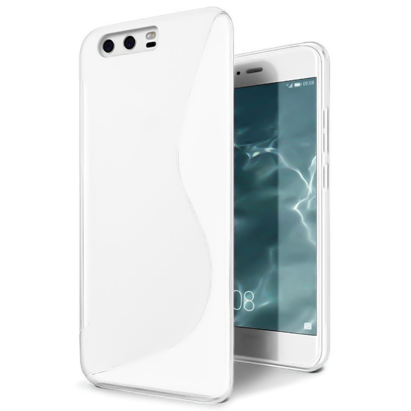 Handy-Huelle-Huawei-P10-Plus-Silikon-Case-Slim-Cover-Schutz-Huelle-Tasche-Weiss