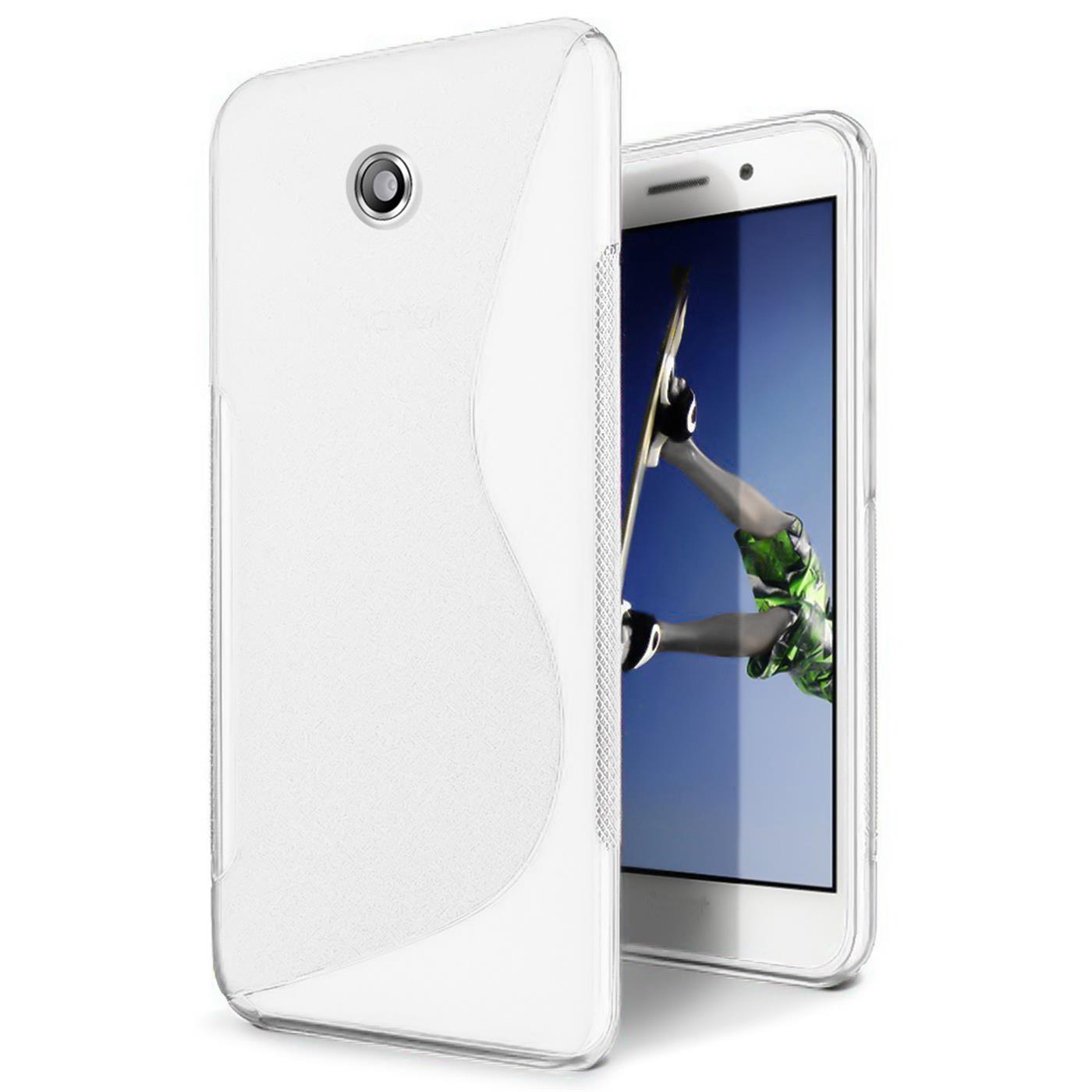 Handy-Huelle-Huawei-Y330-Silikon-Case-Ultra-Slim-Cover-Schutz-Huelle-Tasche-Weiss
