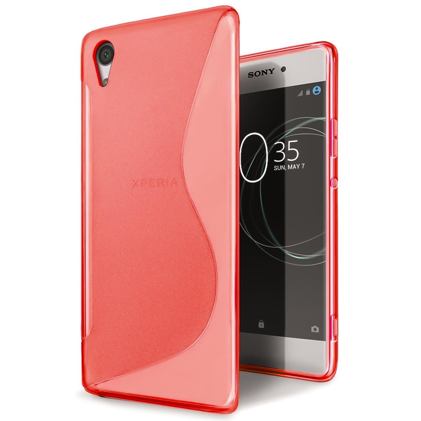 Handy-Huelle-fuer-Sony-Xperia-E5-TPU-Slim-Case-Silikon-Cover-Schutz-Tasche-Rot