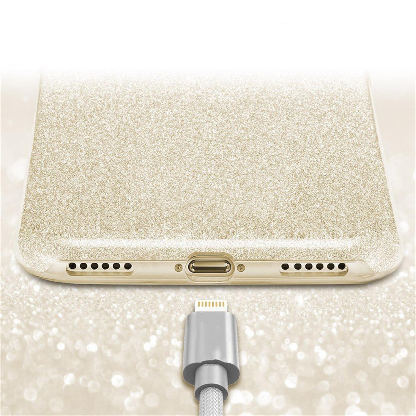 Handy-Glitzer-Huelle-fuer-Apple-iPhone-Slim-TPU-Cover-Case-Silikon-Schutz-Tasche Indexbild 8