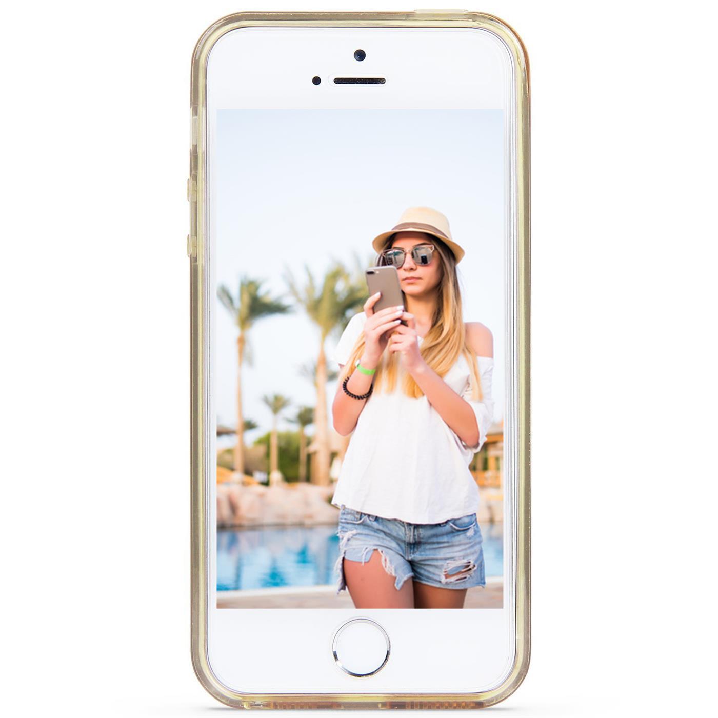 Handy-Glitzer-Huelle-fuer-Apple-iPhone-Slim-TPU-Cover-Case-Silikon-Schutz-Tasche Indexbild 5