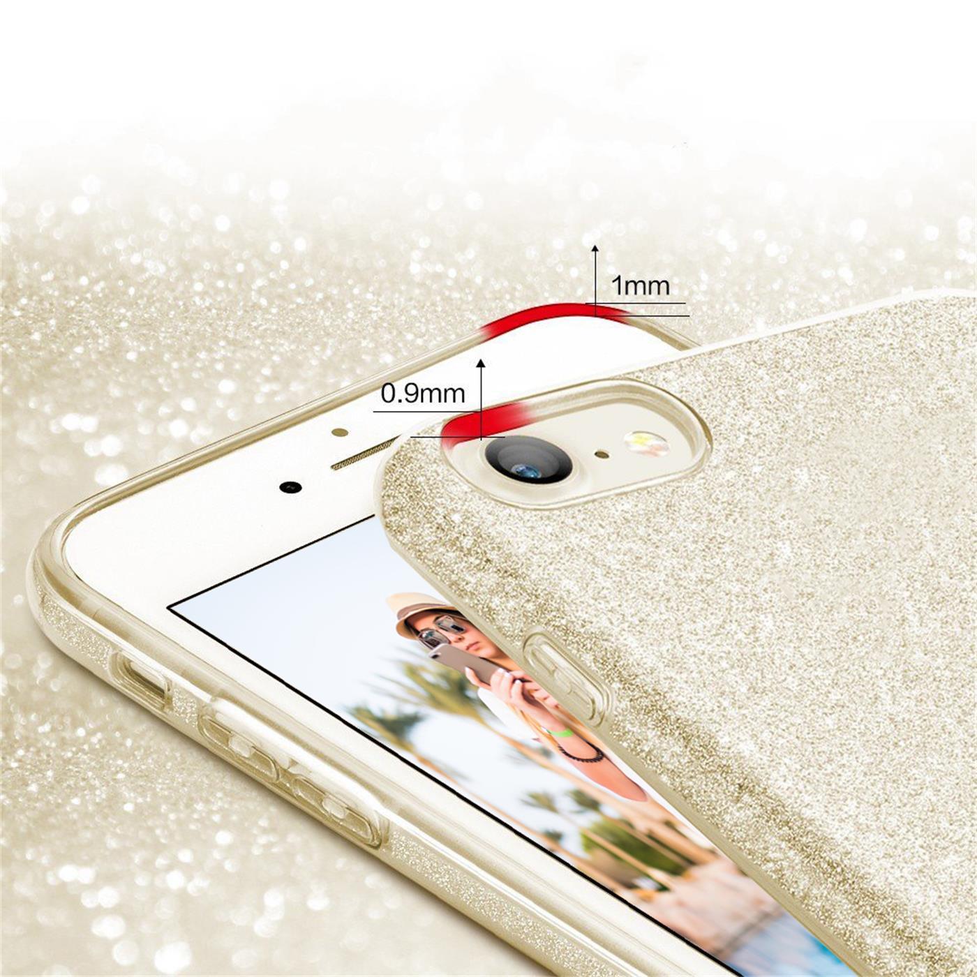 Handy-Glitzer-Huelle-fuer-Apple-iPhone-Slim-TPU-Cover-Case-Silikon-Schutz-Tasche Indexbild 6