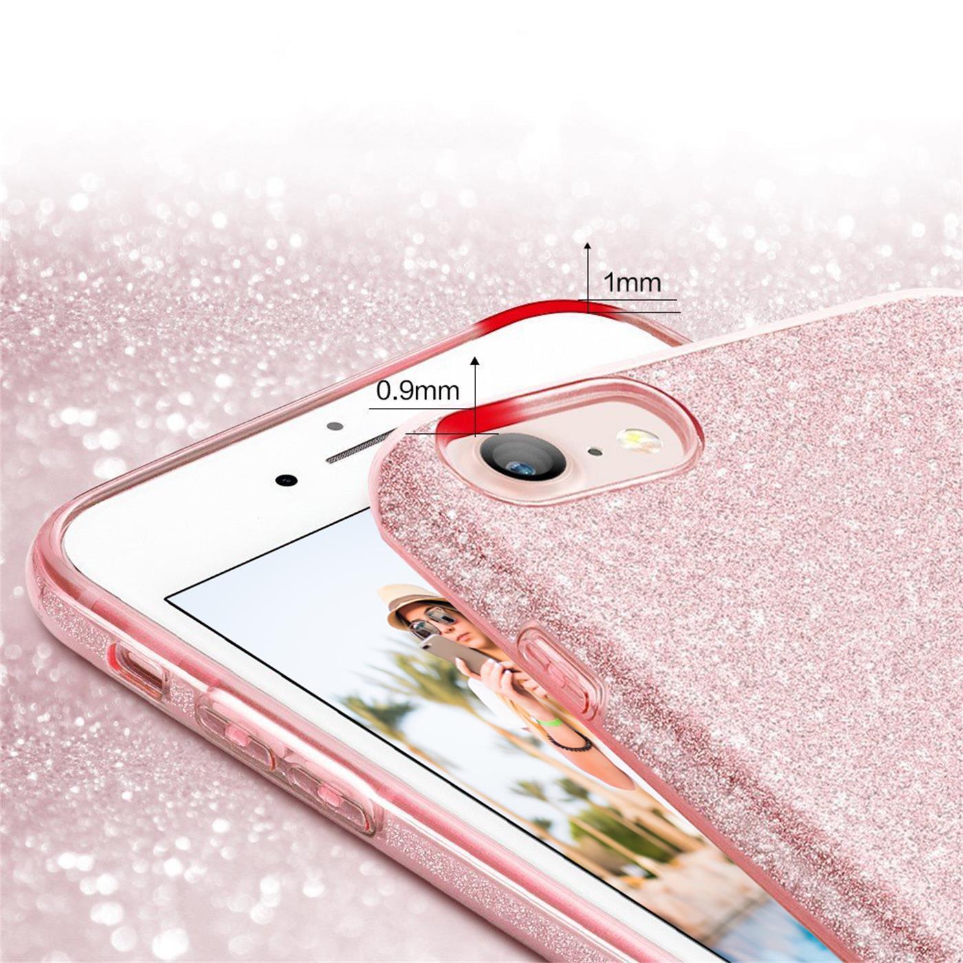 Handy-Glitzer-Huelle-fuer-Apple-iPhone-Slim-TPU-Cover-Case-Silikon-Schutz-Tasche Indexbild 12