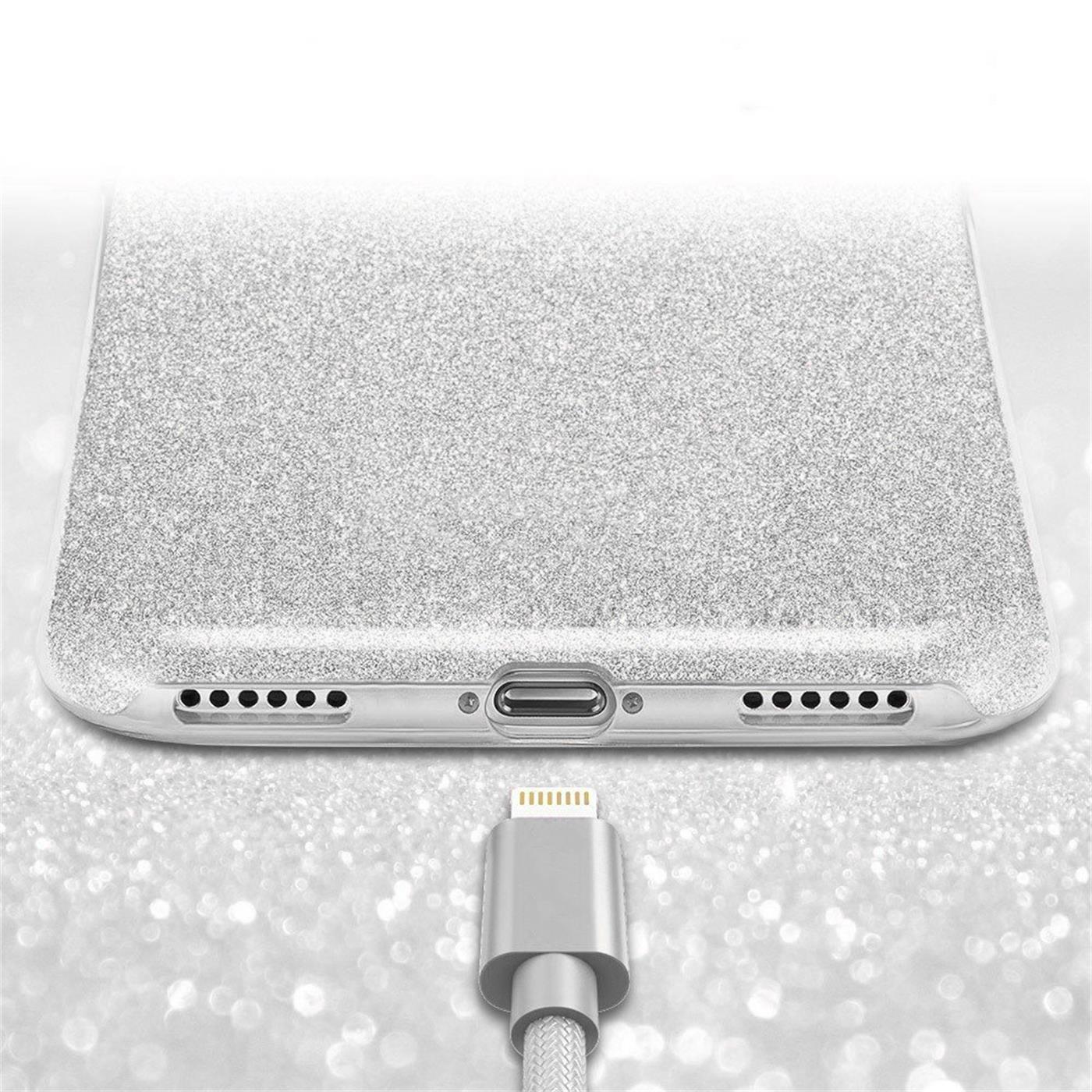 Handy-Glitzer-Huelle-fuer-Apple-iPhone-Slim-TPU-Cover-Case-Silikon-Schutz-Tasche Indexbild 20