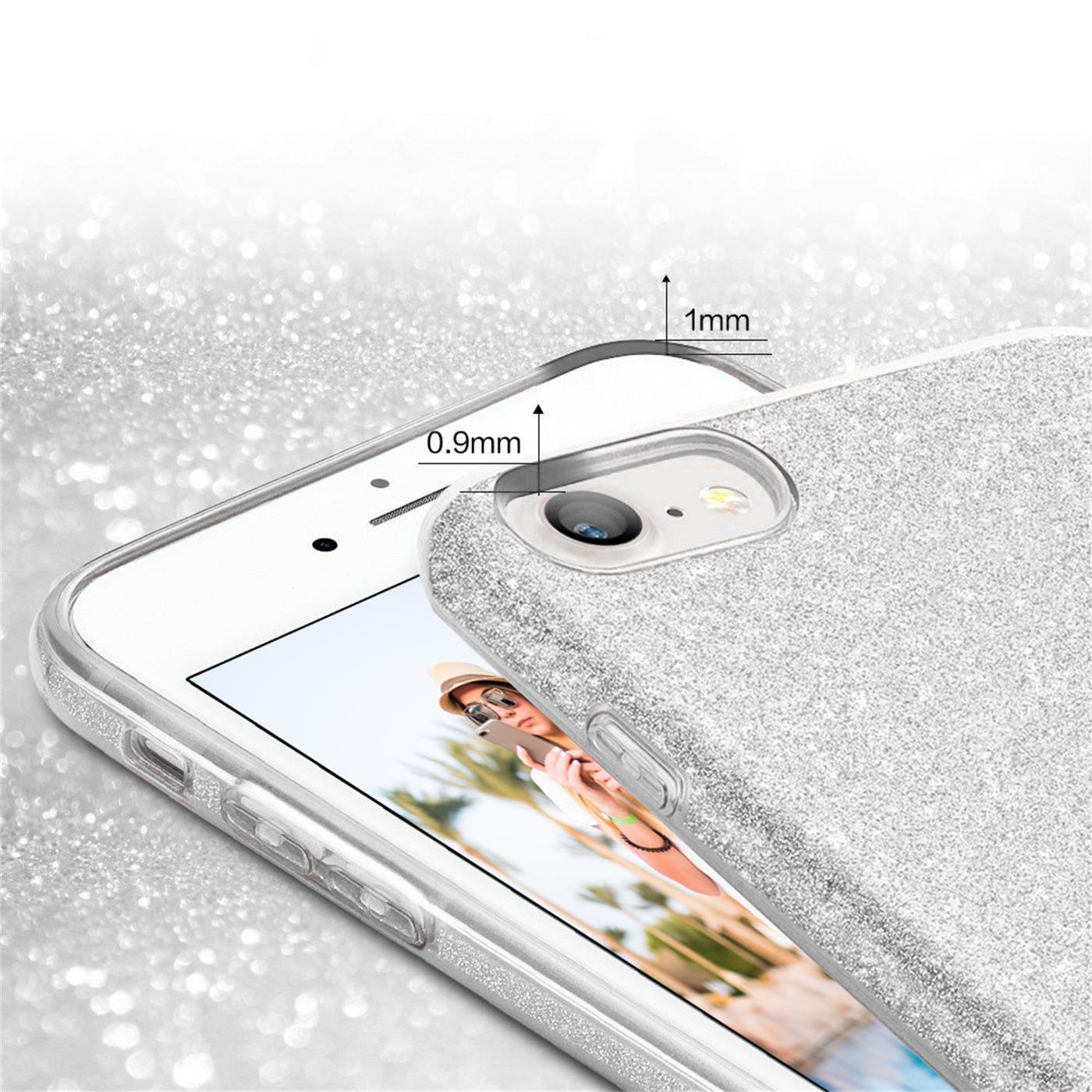 Handy-Glitzer-Huelle-fuer-Apple-iPhone-Slim-TPU-Cover-Case-Silikon-Schutz-Tasche Indexbild 18
