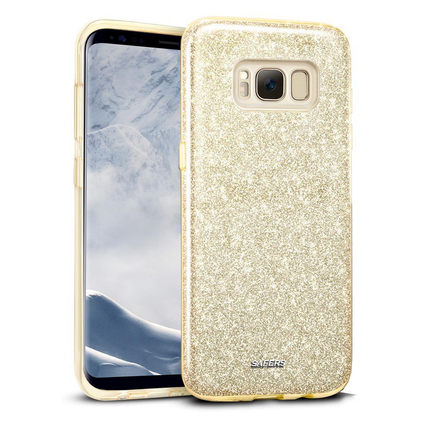 Handy-Glitzer-Huelle-fuer-Samsung-Galaxy-Slim-TPU-Cover-Case-Silikon-Schutz-Tasche Indexbild 5