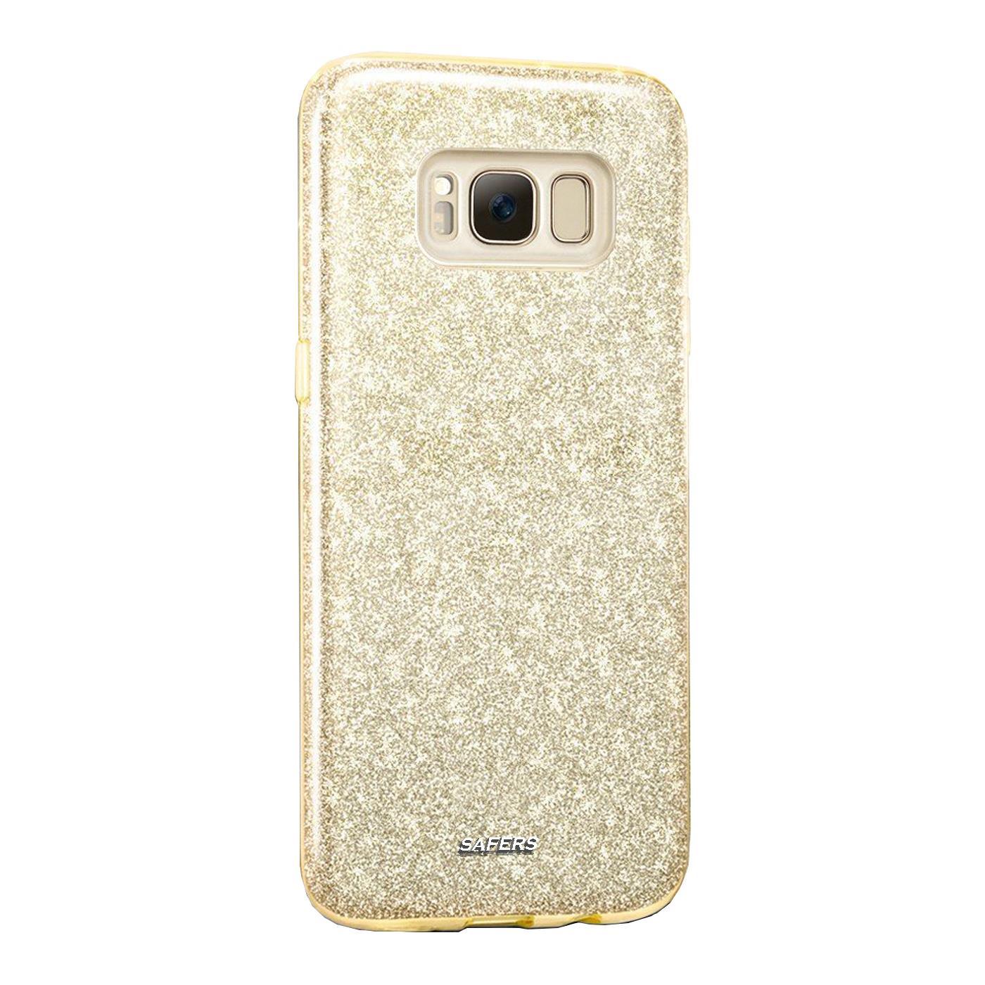 Handy-Glitzer-Huelle-fuer-Samsung-Galaxy-Slim-TPU-Cover-Case-Silikon-Schutz-Tasche Indexbild 6