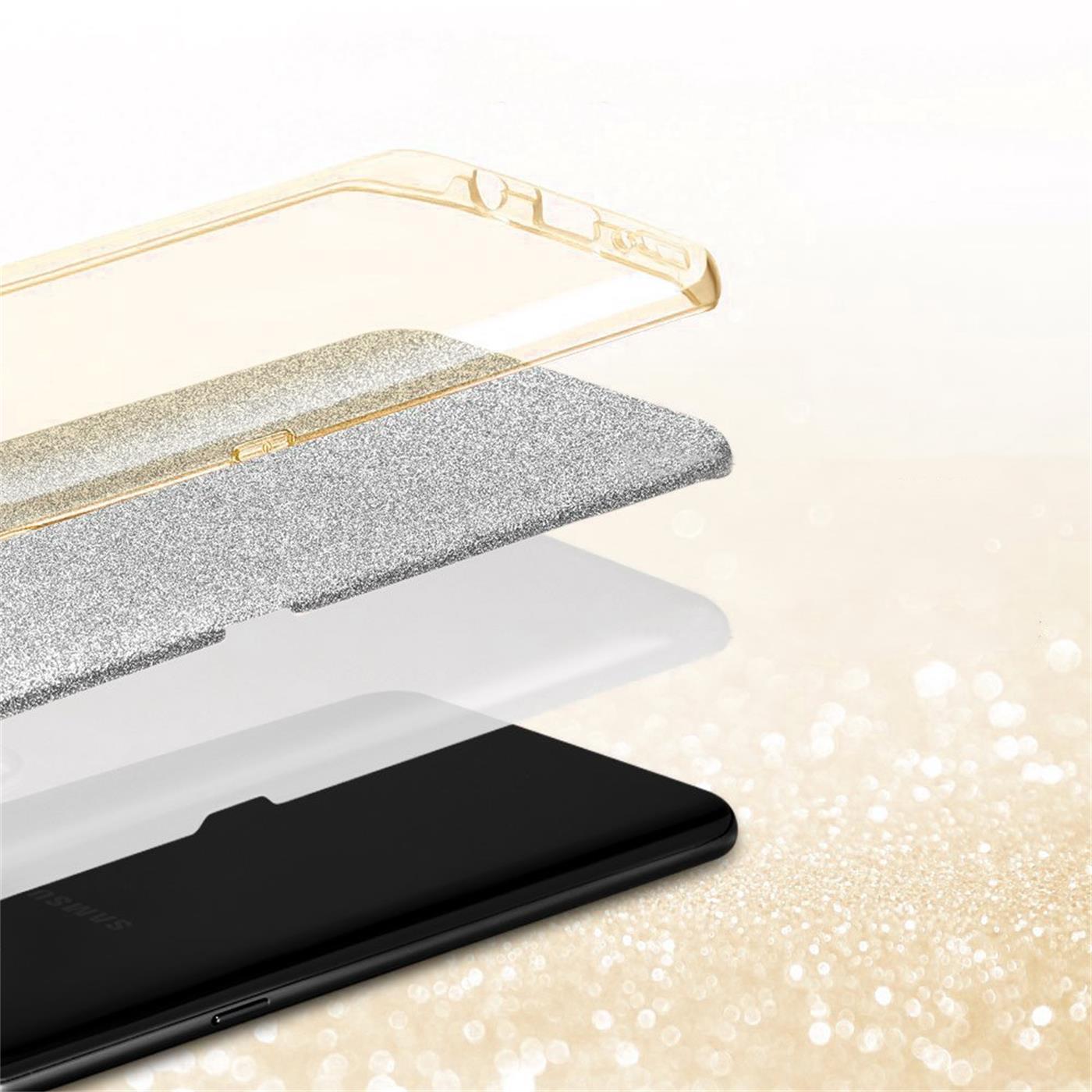 Handy-Glitzer-Huelle-fuer-Samsung-Galaxy-Slim-TPU-Cover-Case-Silikon-Schutz-Tasche Indexbild 8
