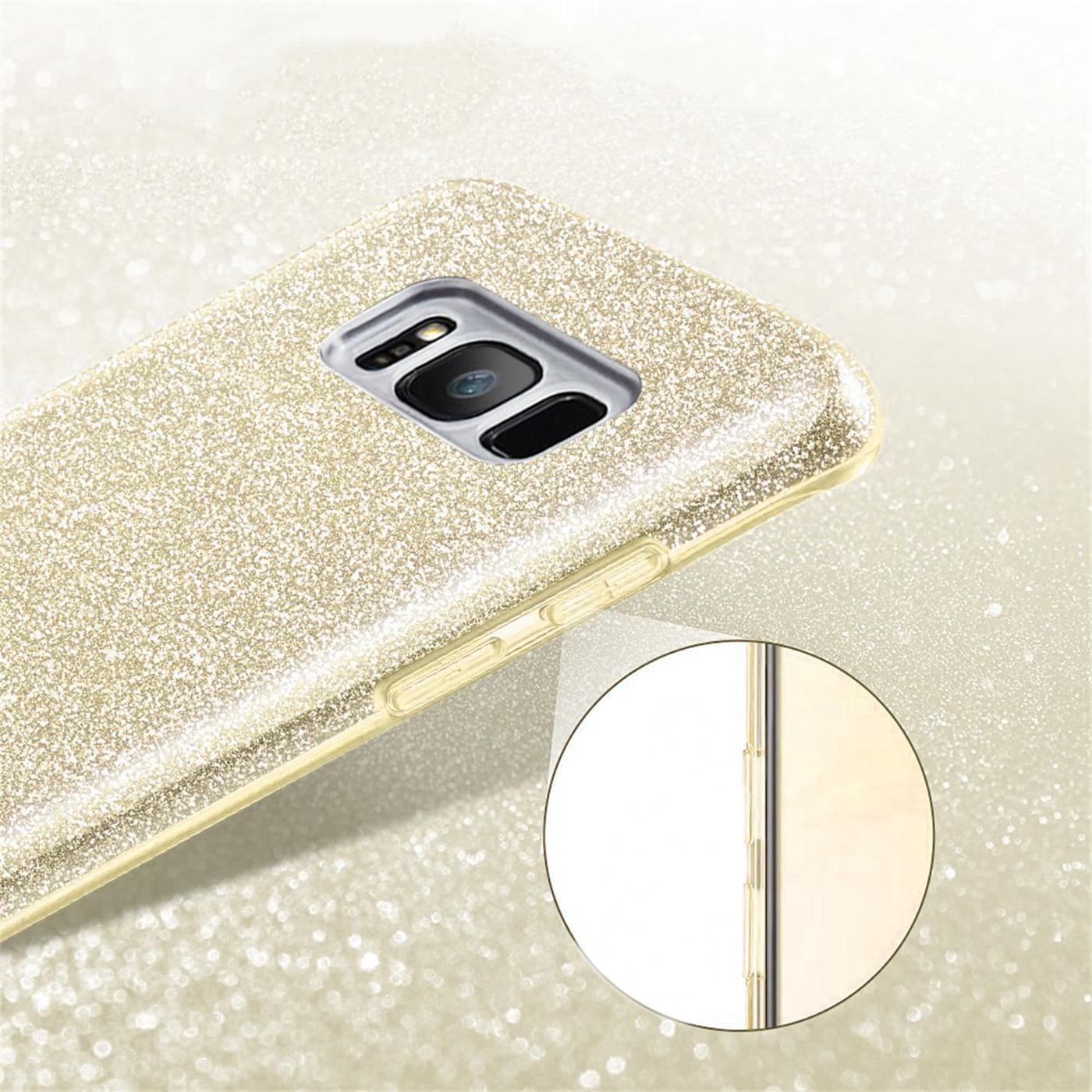 Handy-Glitzer-Huelle-fuer-Samsung-Galaxy-Slim-TPU-Cover-Case-Silikon-Schutz-Tasche Indexbild 9