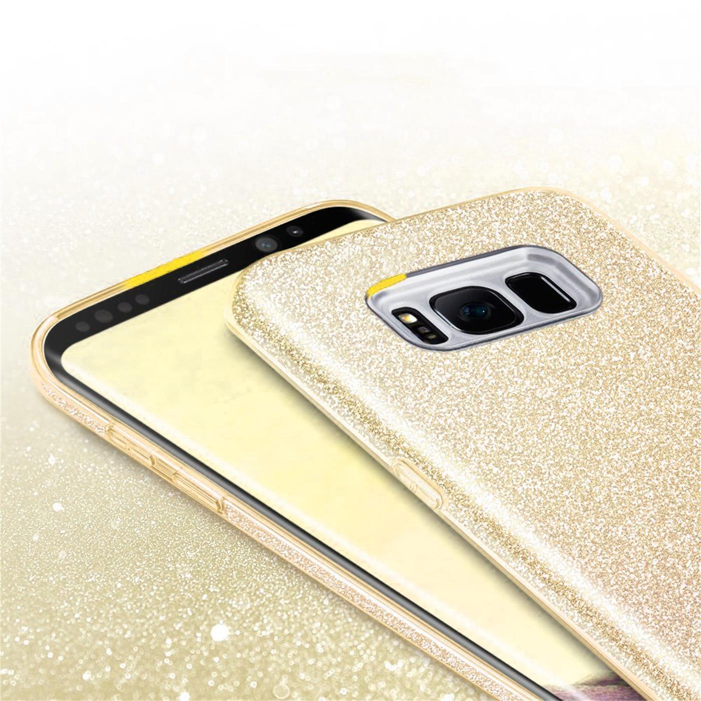 Handy-Glitzer-Huelle-fuer-Samsung-Galaxy-Slim-TPU-Cover-Case-Silikon-Schutz-Tasche Indexbild 10