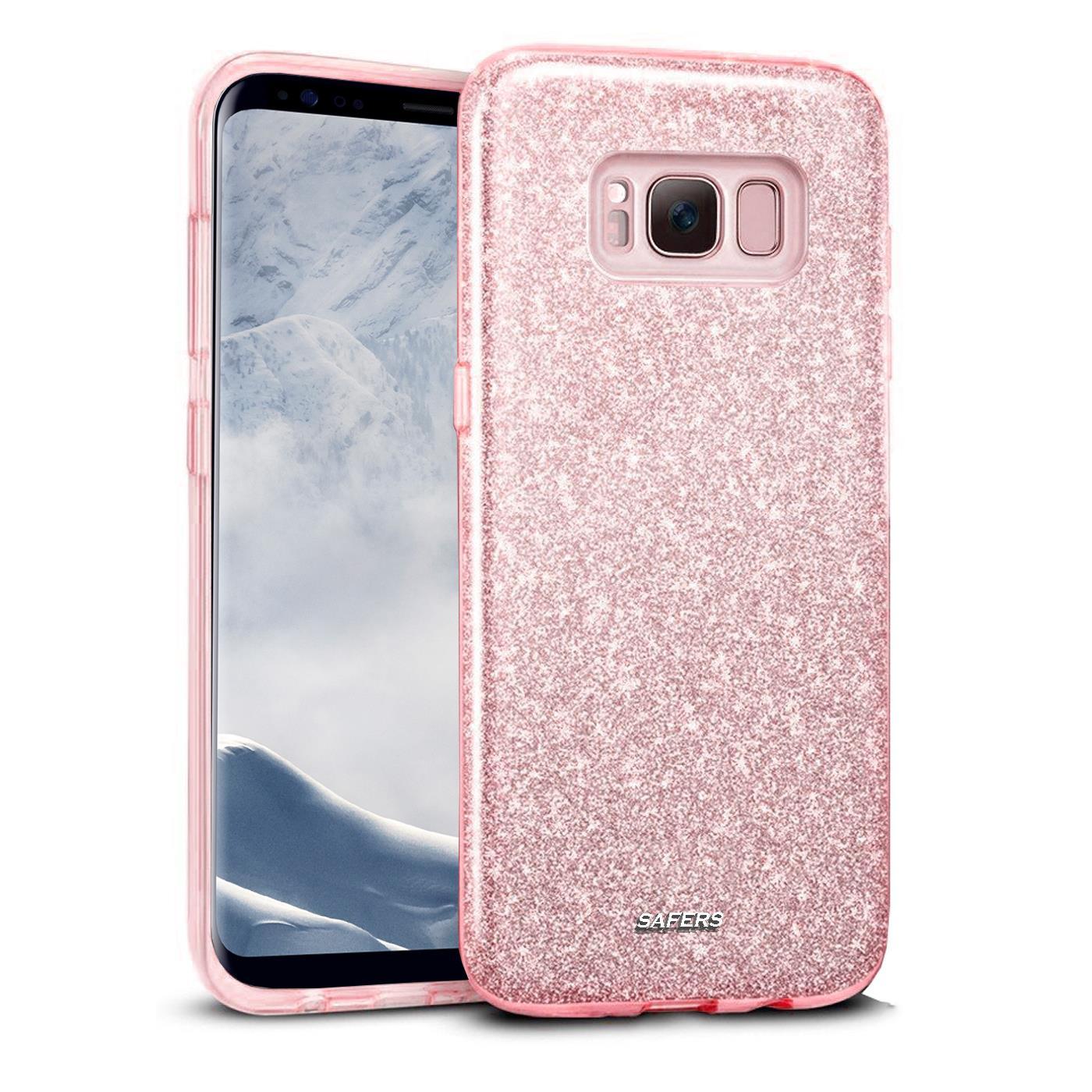 Handy-Glitzer-Huelle-fuer-Samsung-Galaxy-Slim-TPU-Cover-Case-Silikon-Schutz-Tasche Indexbild 12