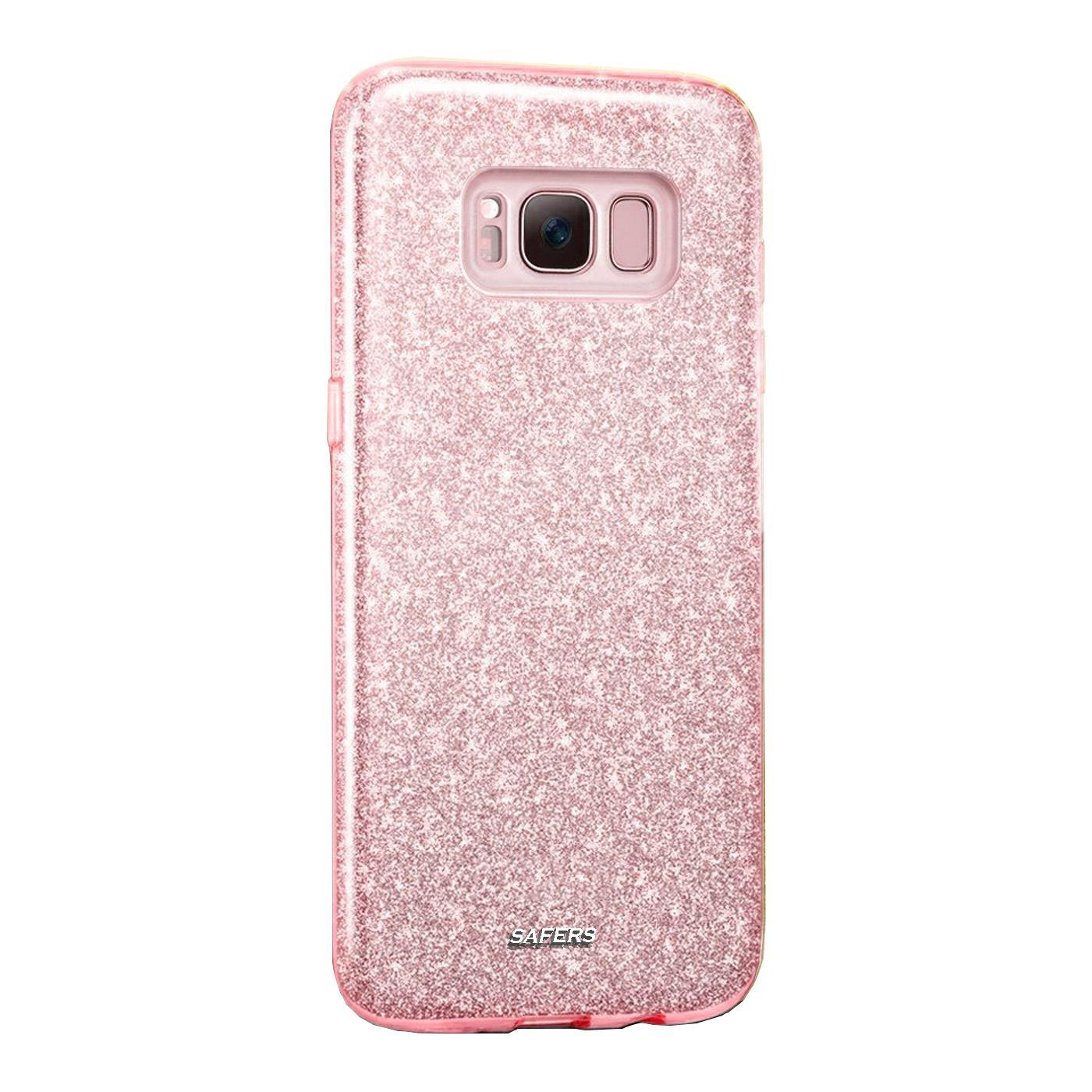 Handy-Glitzer-Huelle-fuer-Samsung-Galaxy-Slim-TPU-Cover-Case-Silikon-Schutz-Tasche Indexbild 13