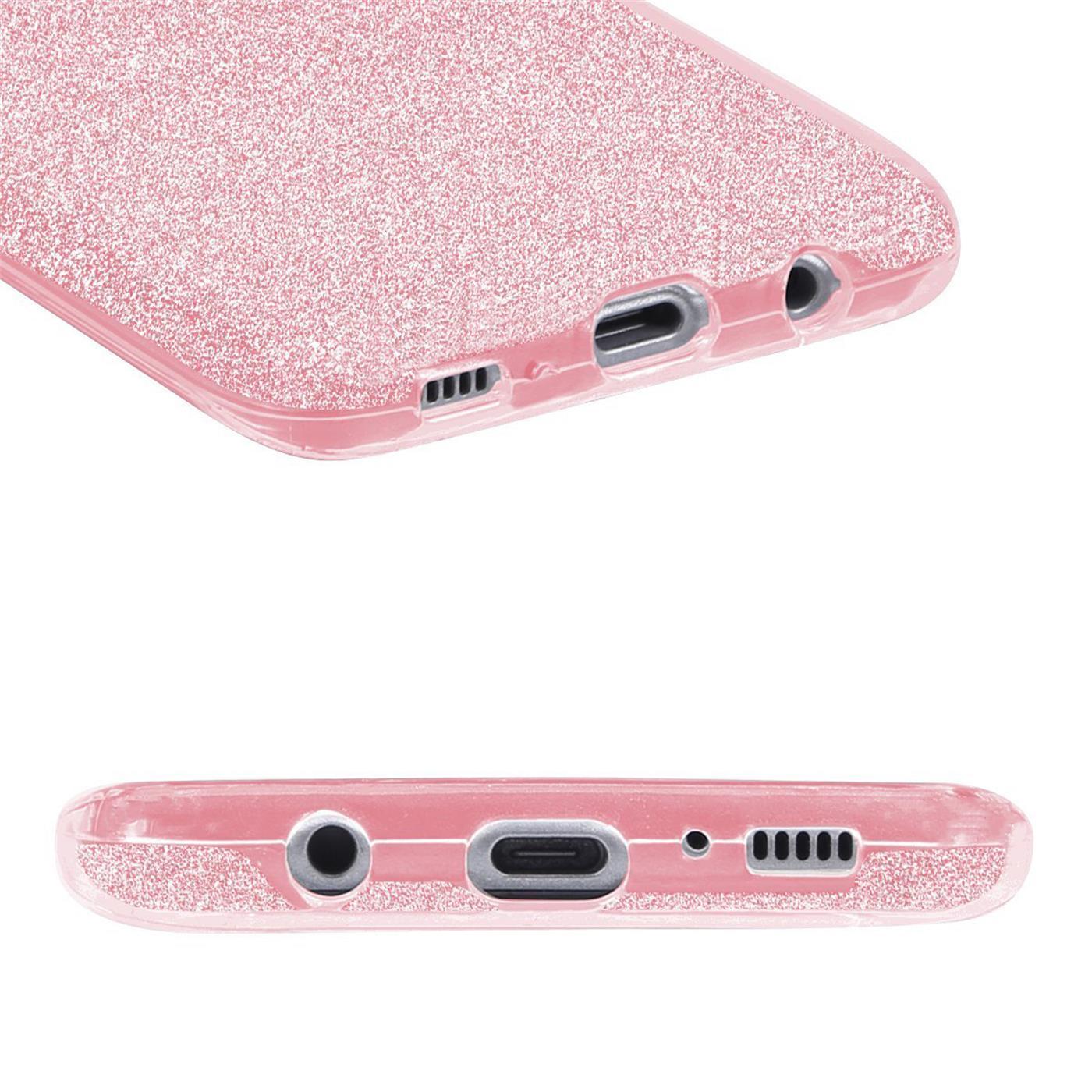 Handy-Glitzer-Huelle-fuer-Samsung-Galaxy-Slim-TPU-Cover-Case-Silikon-Schutz-Tasche Indexbild 14