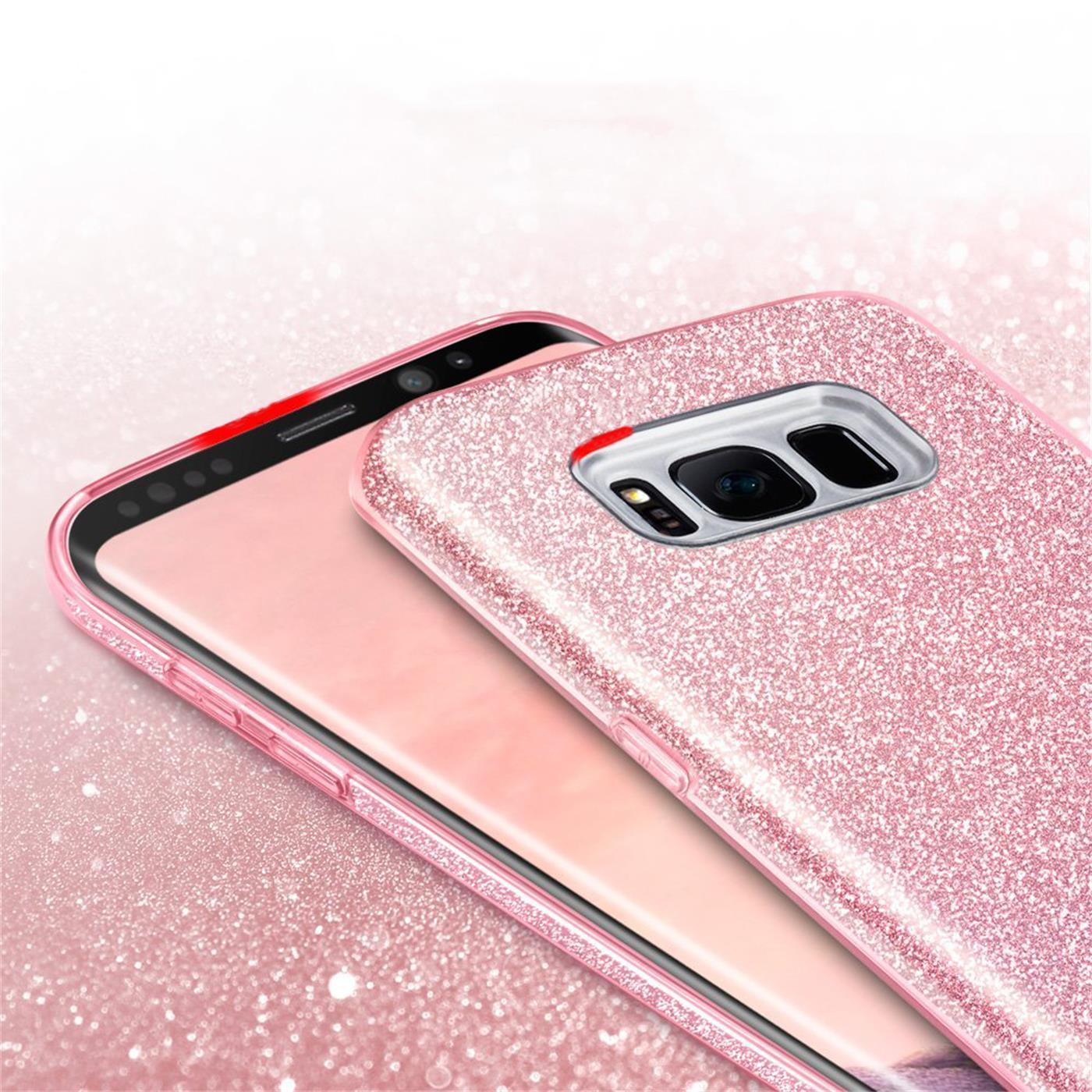 Handy-Glitzer-Huelle-fuer-Samsung-Galaxy-Slim-TPU-Cover-Case-Silikon-Schutz-Tasche Indexbild 17