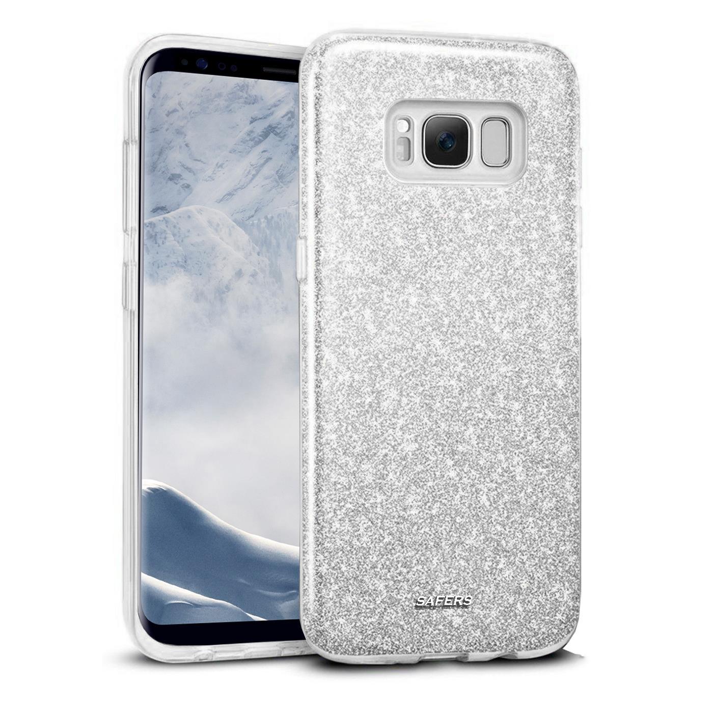 Handy-Glitzer-Huelle-fuer-Samsung-Galaxy-Slim-TPU-Cover-Case-Silikon-Schutz-Tasche Indexbild 19
