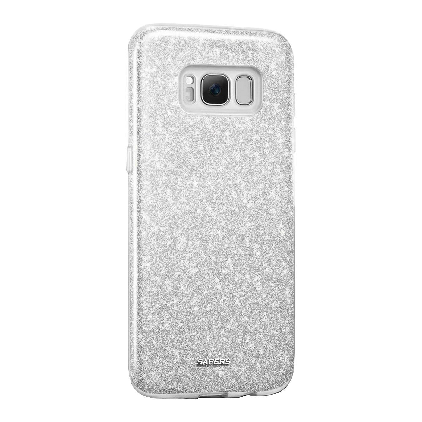 Handy-Glitzer-Huelle-fuer-Samsung-Galaxy-Slim-TPU-Cover-Case-Silikon-Schutz-Tasche Indexbild 20