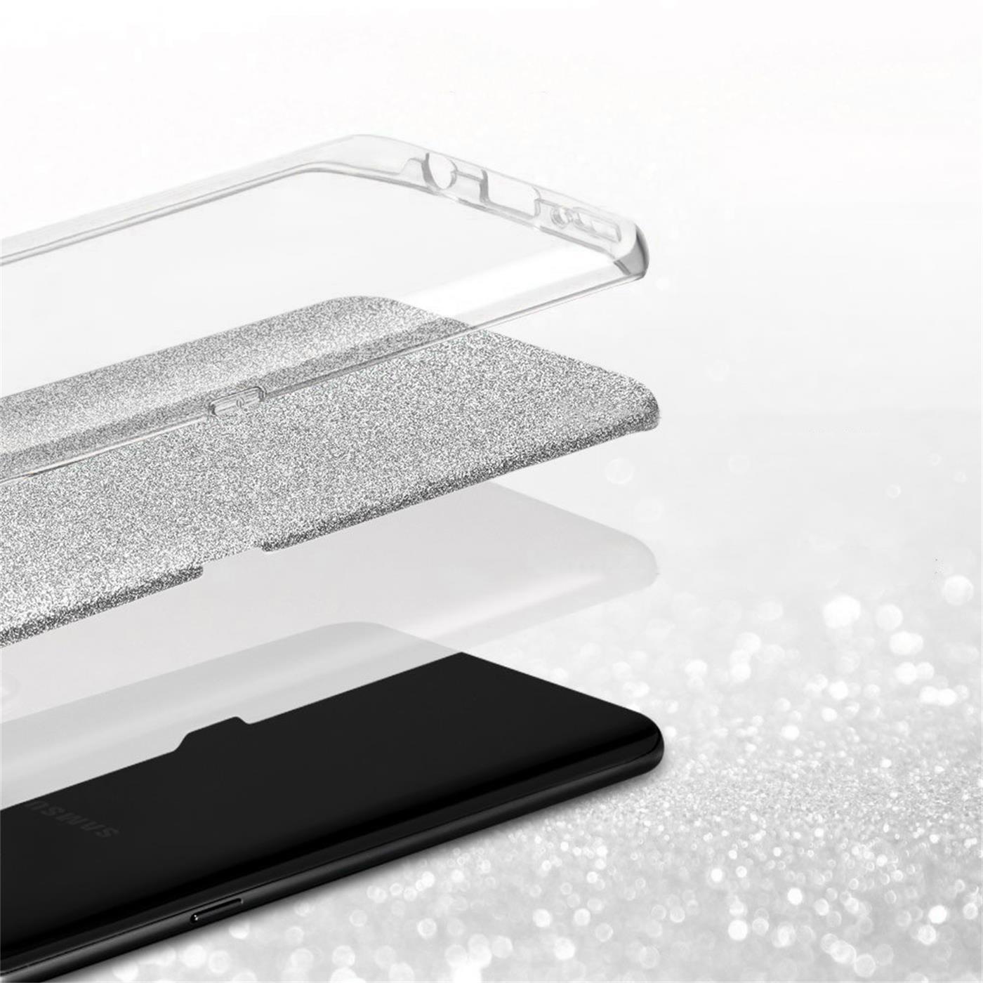 Handy-Glitzer-Huelle-fuer-Samsung-Galaxy-Slim-TPU-Cover-Case-Silikon-Schutz-Tasche Indexbild 22