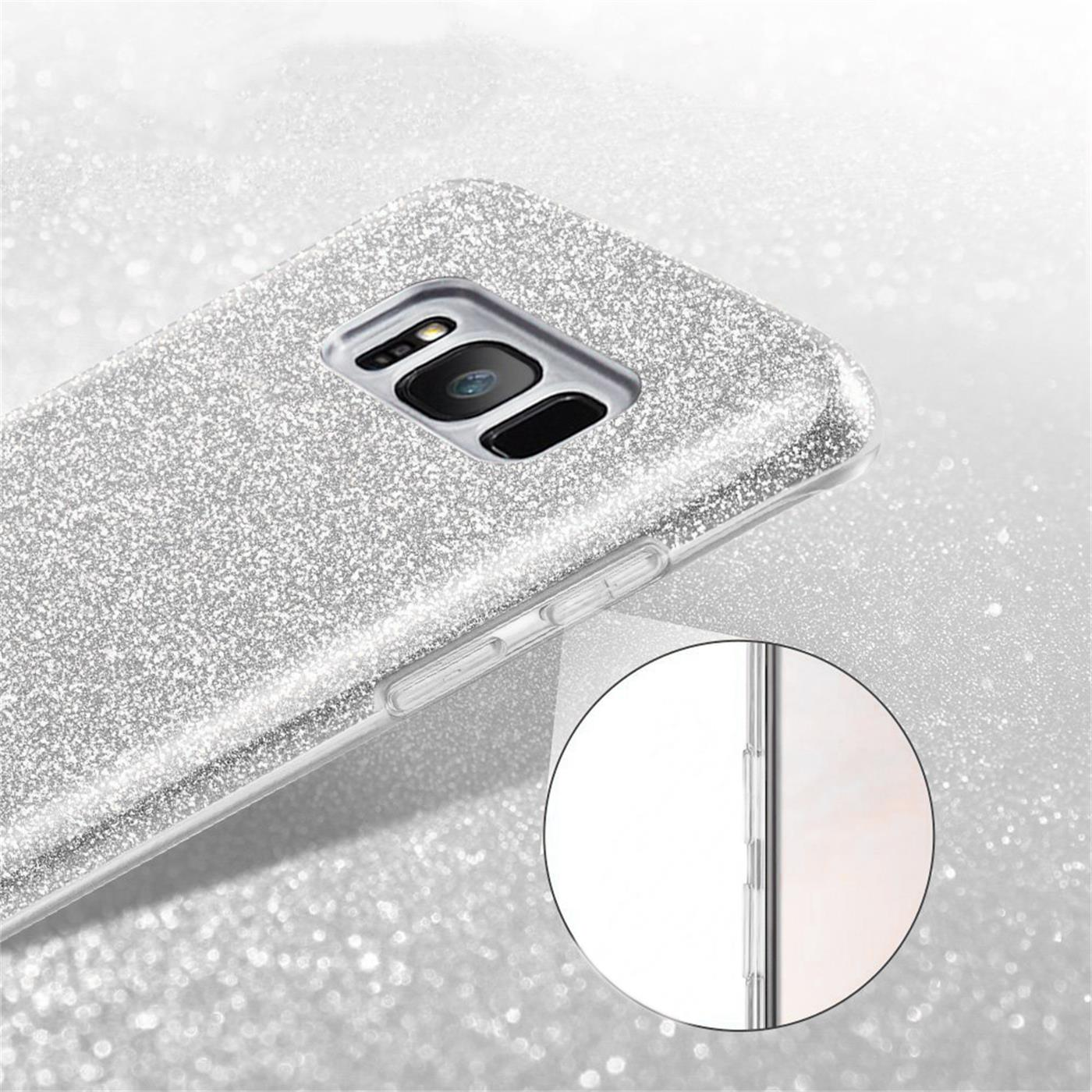 Handy-Glitzer-Huelle-fuer-Samsung-Galaxy-Slim-TPU-Cover-Case-Silikon-Schutz-Tasche Indexbild 23