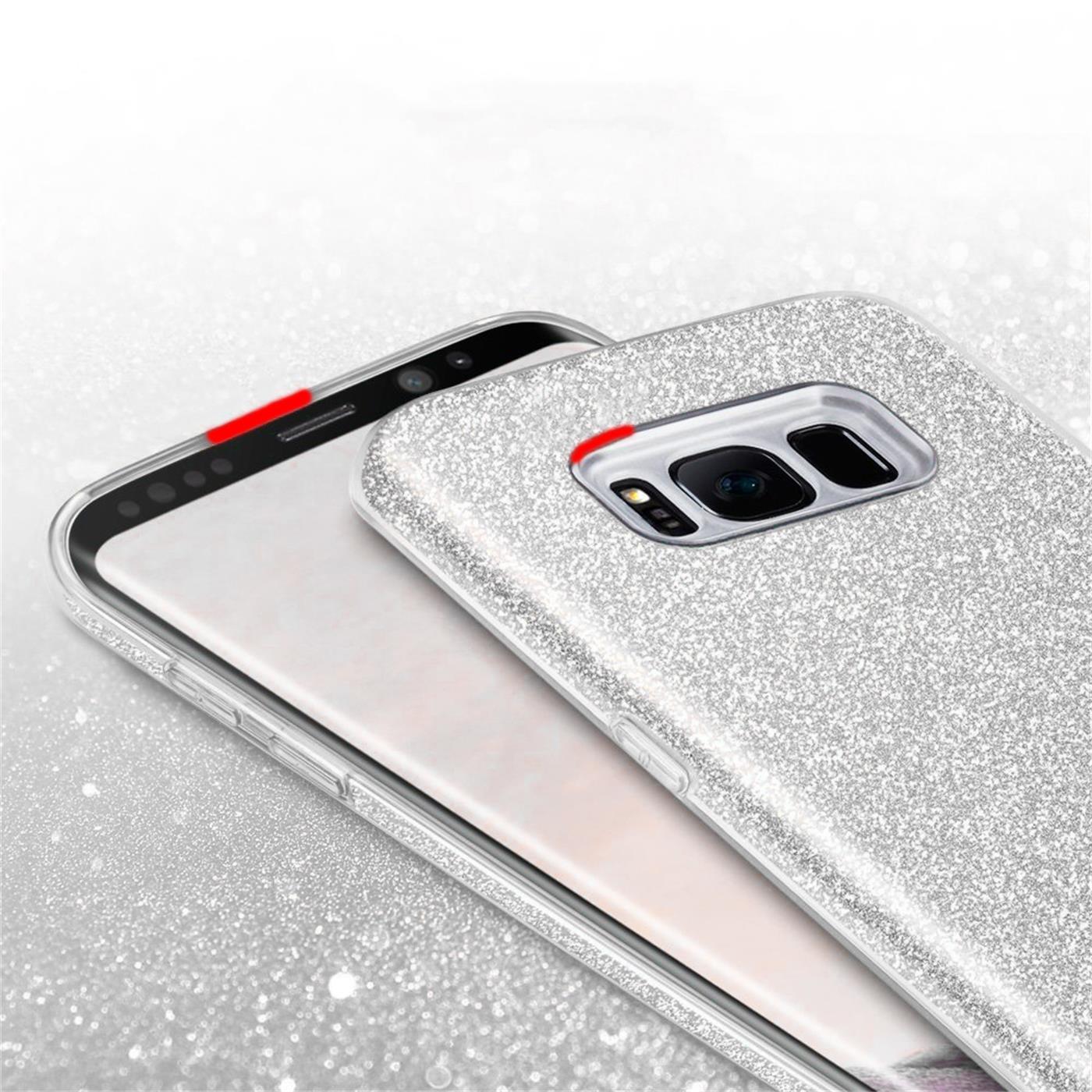Handy-Glitzer-Huelle-fuer-Samsung-Galaxy-Slim-TPU-Cover-Case-Silikon-Schutz-Tasche Indexbild 24