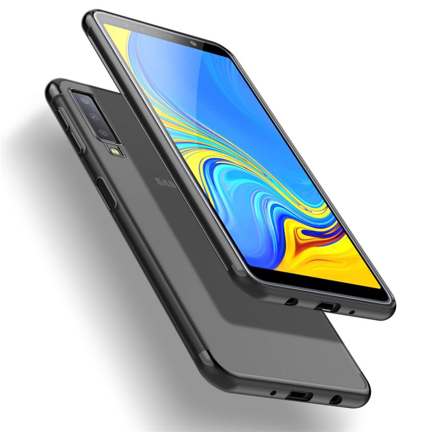 Samsung-Galaxy-A7-2018-Huelle-Schutzhuelle-Handy-Tasche-Slim-Etui-Case-Transparent