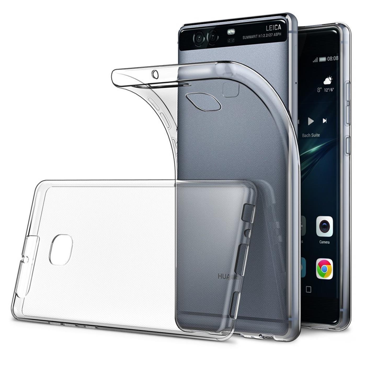 Huawei-p9-Duenn-Silikon-Klar-Case-Cover-Ultra-Slim-Stossfeste-Gel-Rueckseite Indexbild 3