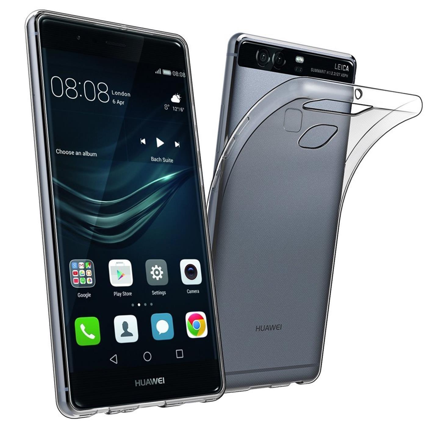 Huawei-p9-Duenn-Silikon-Klar-Case-Cover-Ultra-Slim-Stossfeste-Gel-Rueckseite Indexbild 4