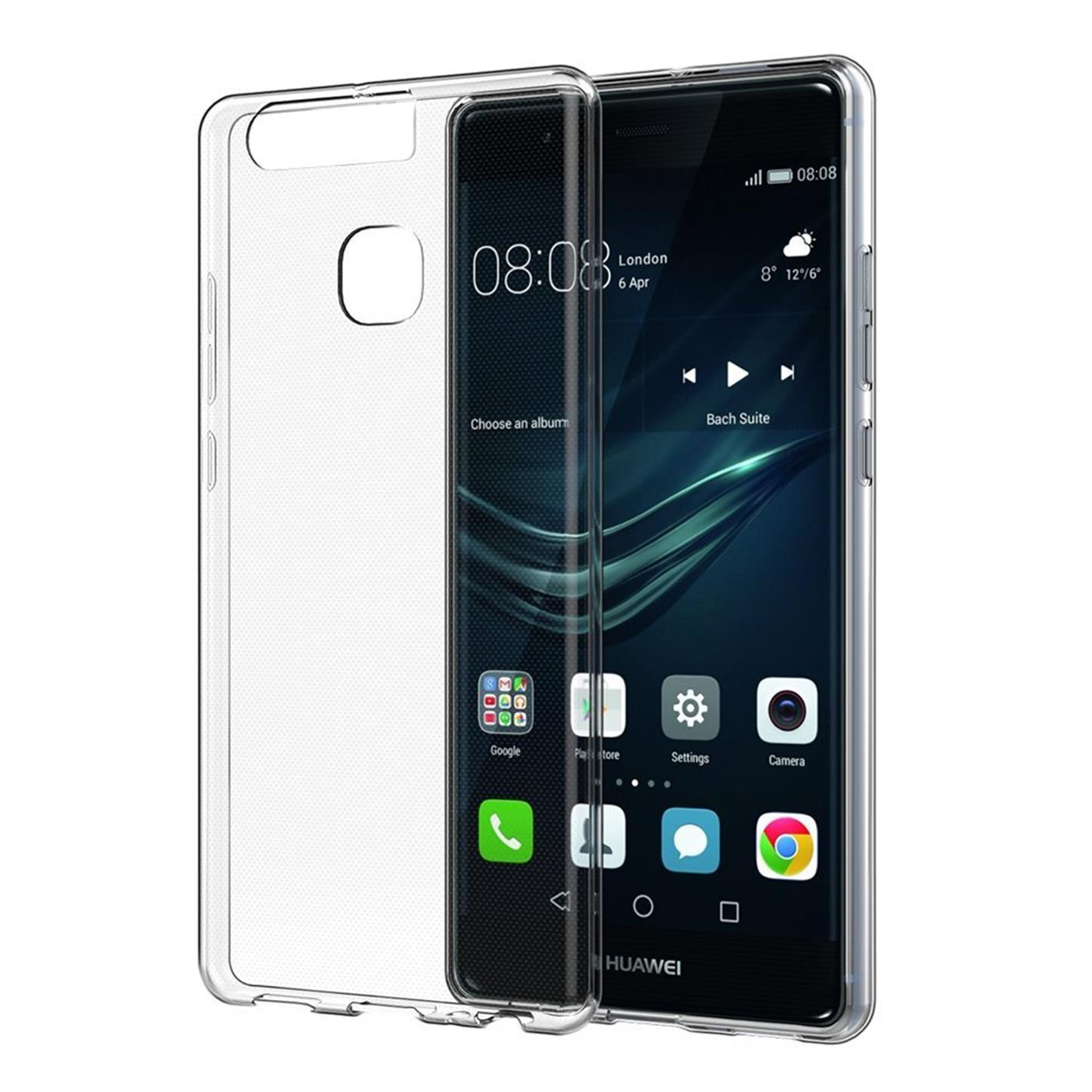 Huawei-p9-Duenn-Silikon-Klar-Case-Cover-Ultra-Slim-Stossfeste-Gel-Rueckseite Indexbild 5