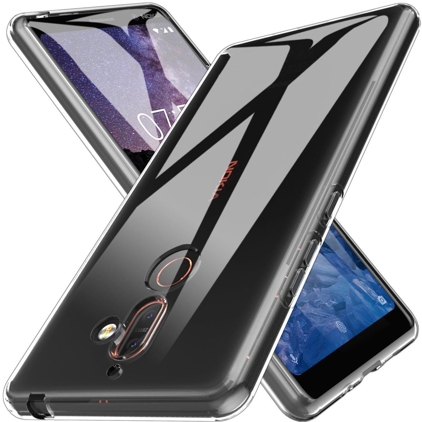 Nokia-7-Plus-Thin-Silikon-Klar-Case-Cover-Ultra-Slim-Stossfeste-Gel-Rueckseite Indexbild 8
