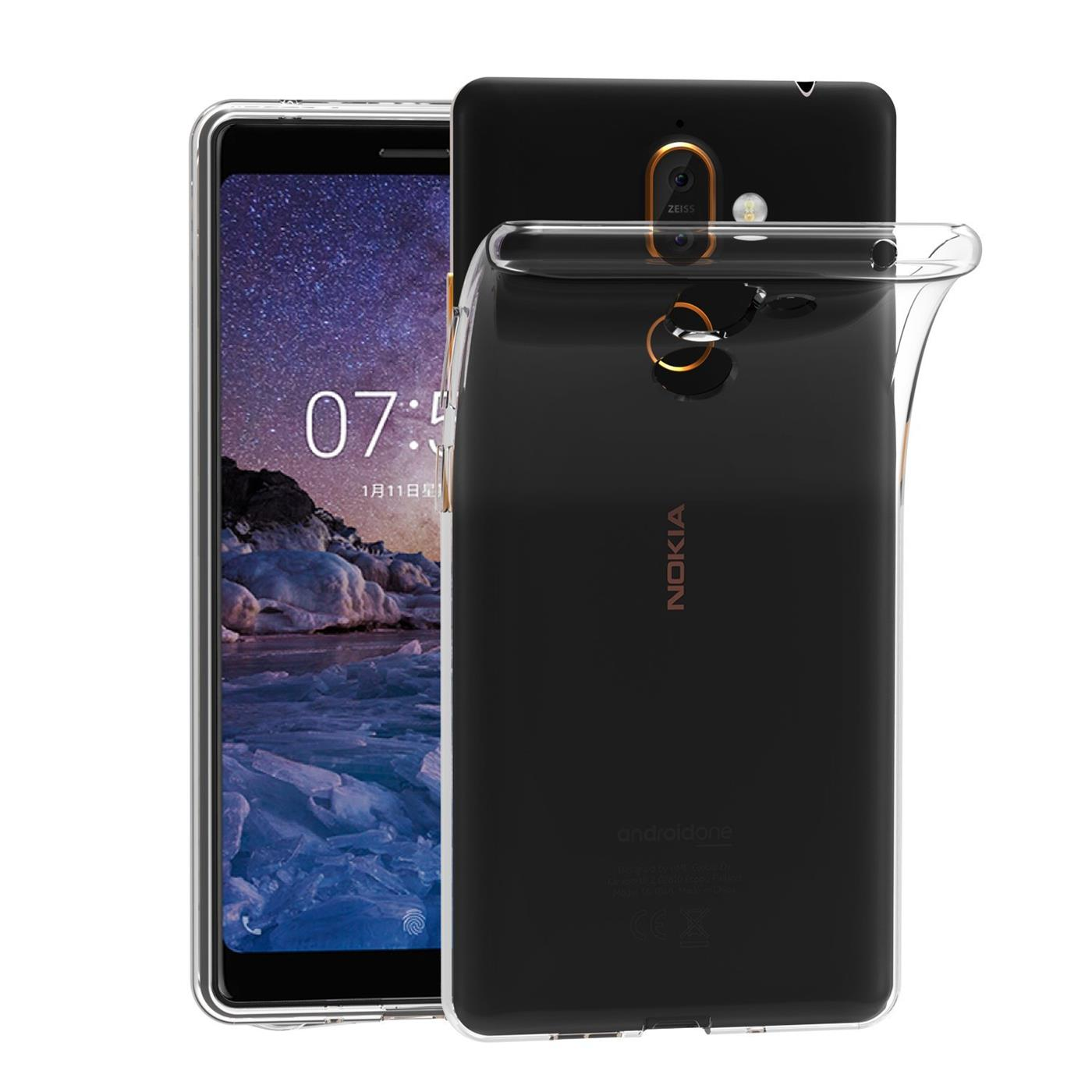 Nokia-7-Plus-Thin-Silikon-Klar-Case-Cover-Ultra-Slim-Stossfeste-Gel-Rueckseite Indexbild 9
