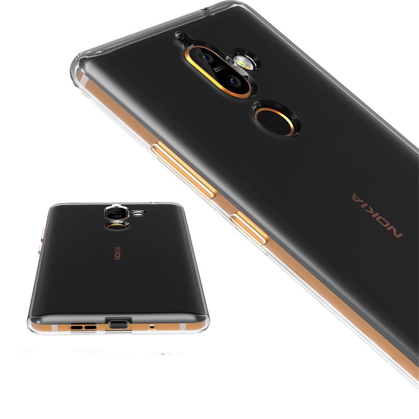 Nokia-7-Plus-Thin-Silikon-Klar-Case-Cover-Ultra-Slim-Stossfeste-Gel-Rueckseite Indexbild 10