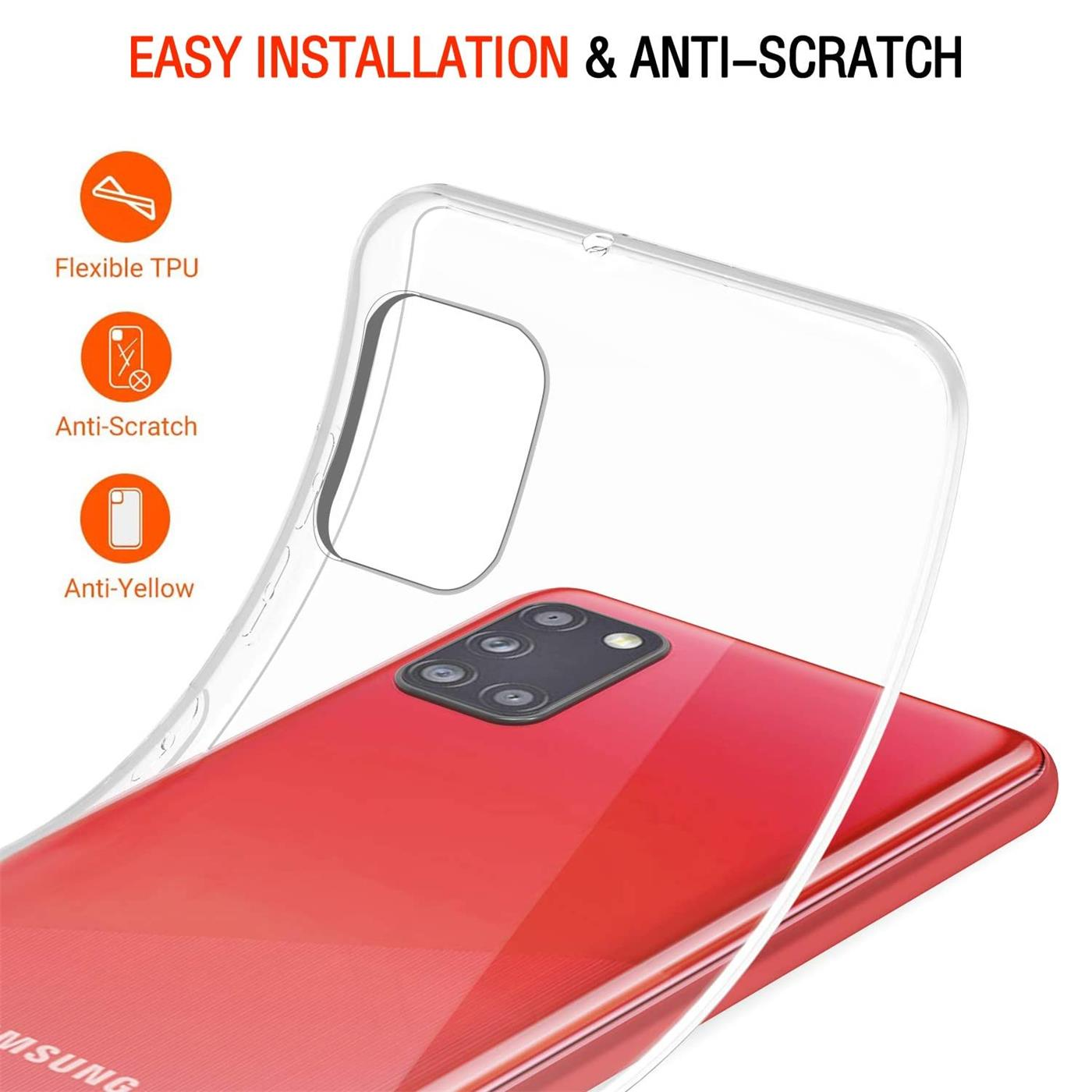 Handy-Case-fuer-Samsung-Galaxy-A31-Huelle-Transparent-Slim-Tasche-Handyhuelle-Cover Indexbild 9