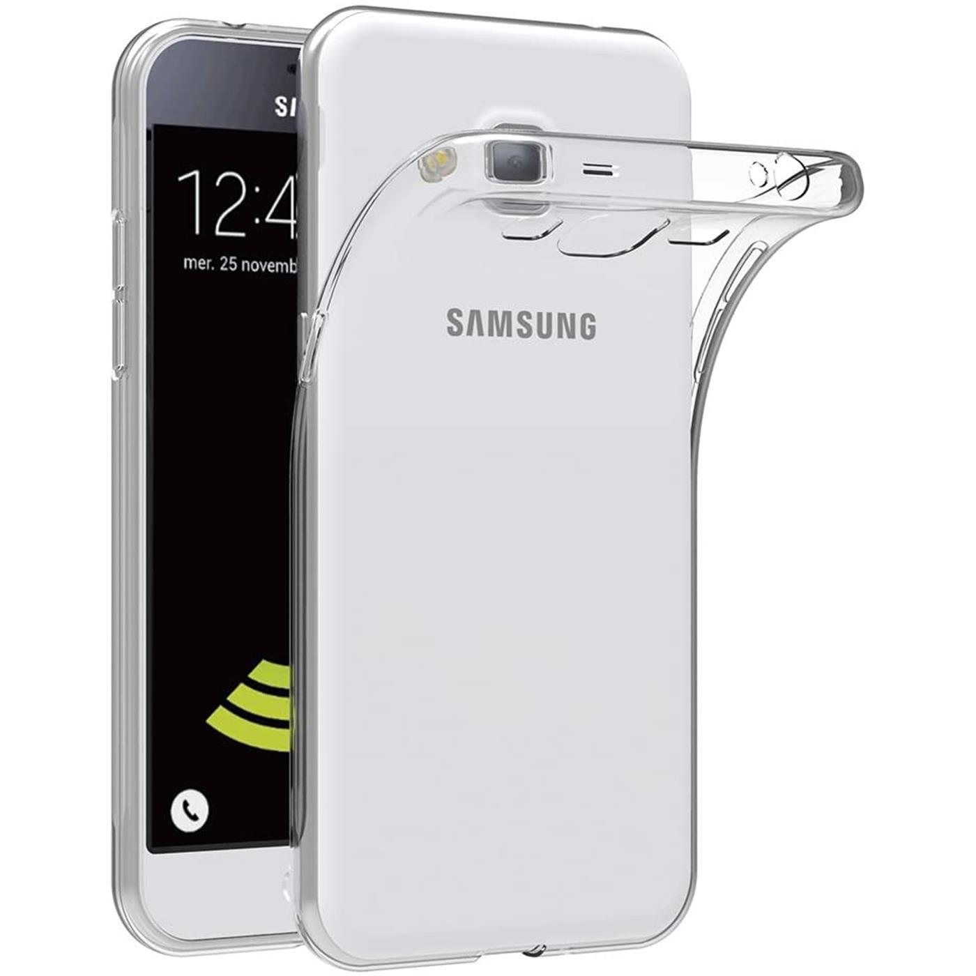 Samsung-Galaxy-j7-2016-Thin-Silikon-Klar-Case-Cover-Ultra-Slim-Stossfeste-Gel Indexbild 3