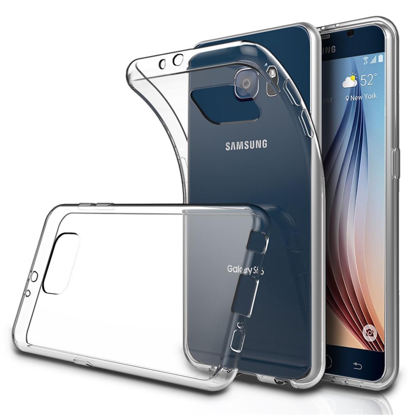 Samsung-Galaxy-s6-Edge-Plus-Thin-Silikon-Klar-Case-Cover-Ultra-Slim-Stossfeste Indexbild 3