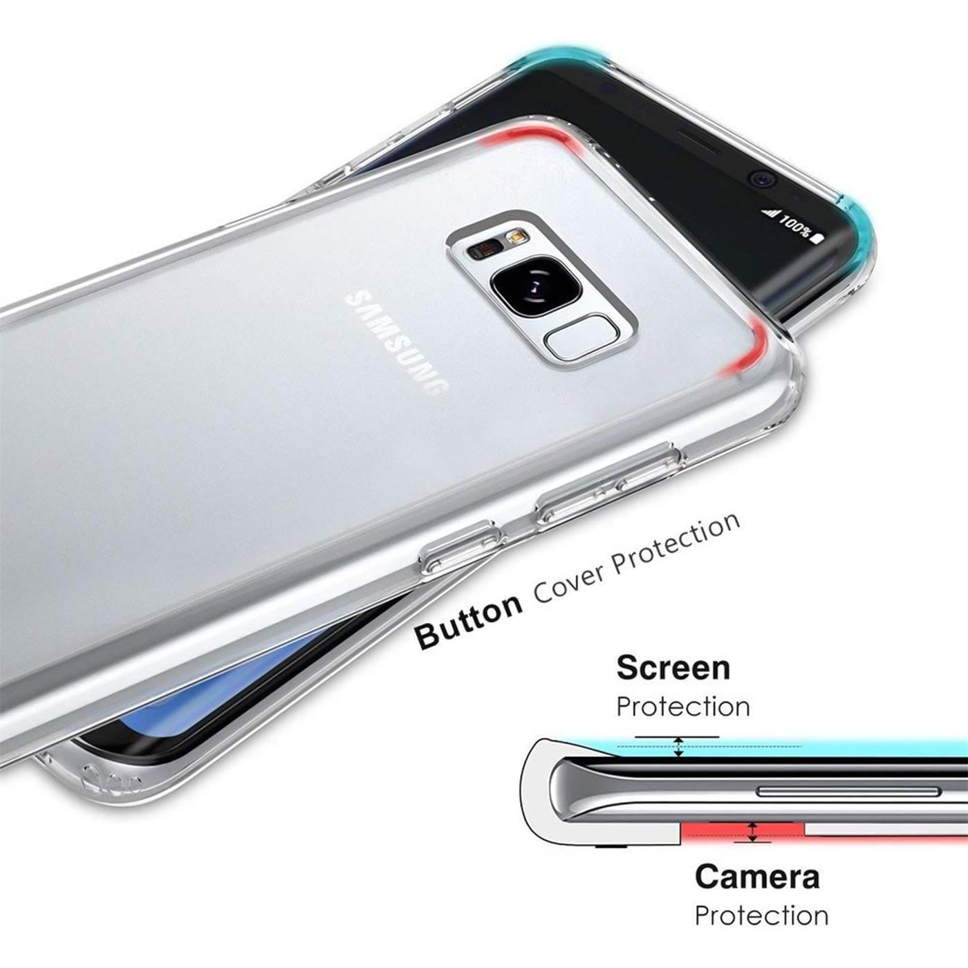 Samsung-Galaxy-s8-Duenn-Silikon-Klar-Case-Cover-Ultra-Slim-Stossfeste-Gel-Rueckseite Indexbild 4