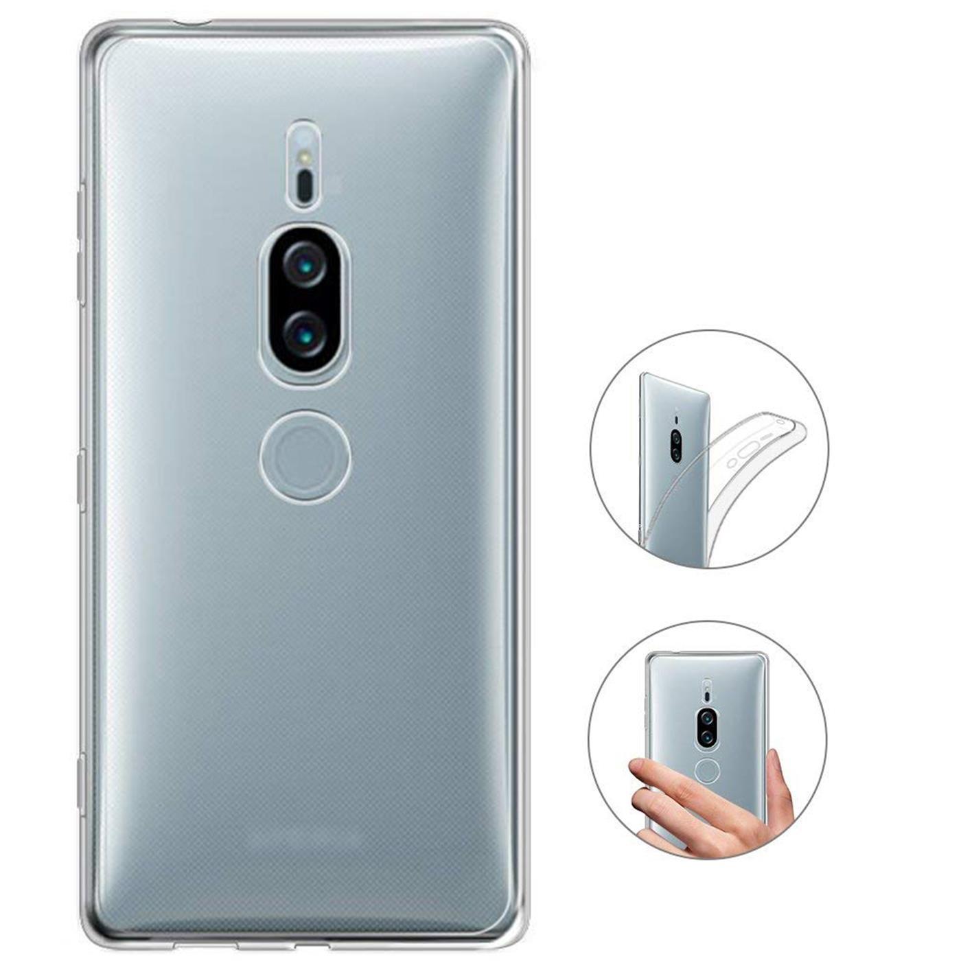 Sony-Xperia-xz2-Premium-Thin-Silikon-Klar-Case-Cover-Ultra-Slim-Stossfeste-Gel Indexbild 10