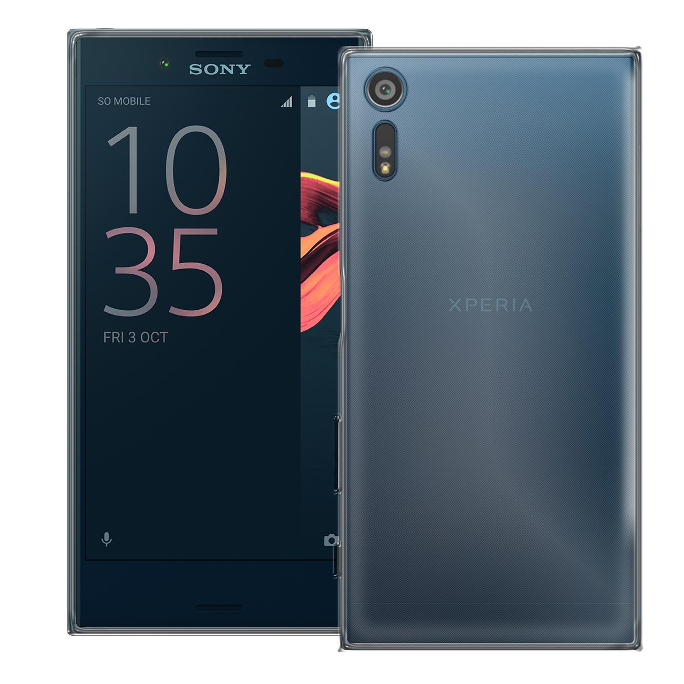 Sony-Xperia-XZ-Thin-Silikon-Klar-Case-Cover-Ultra-Slim-Stossfeste-Gel-Rueckseite Indexbild 3