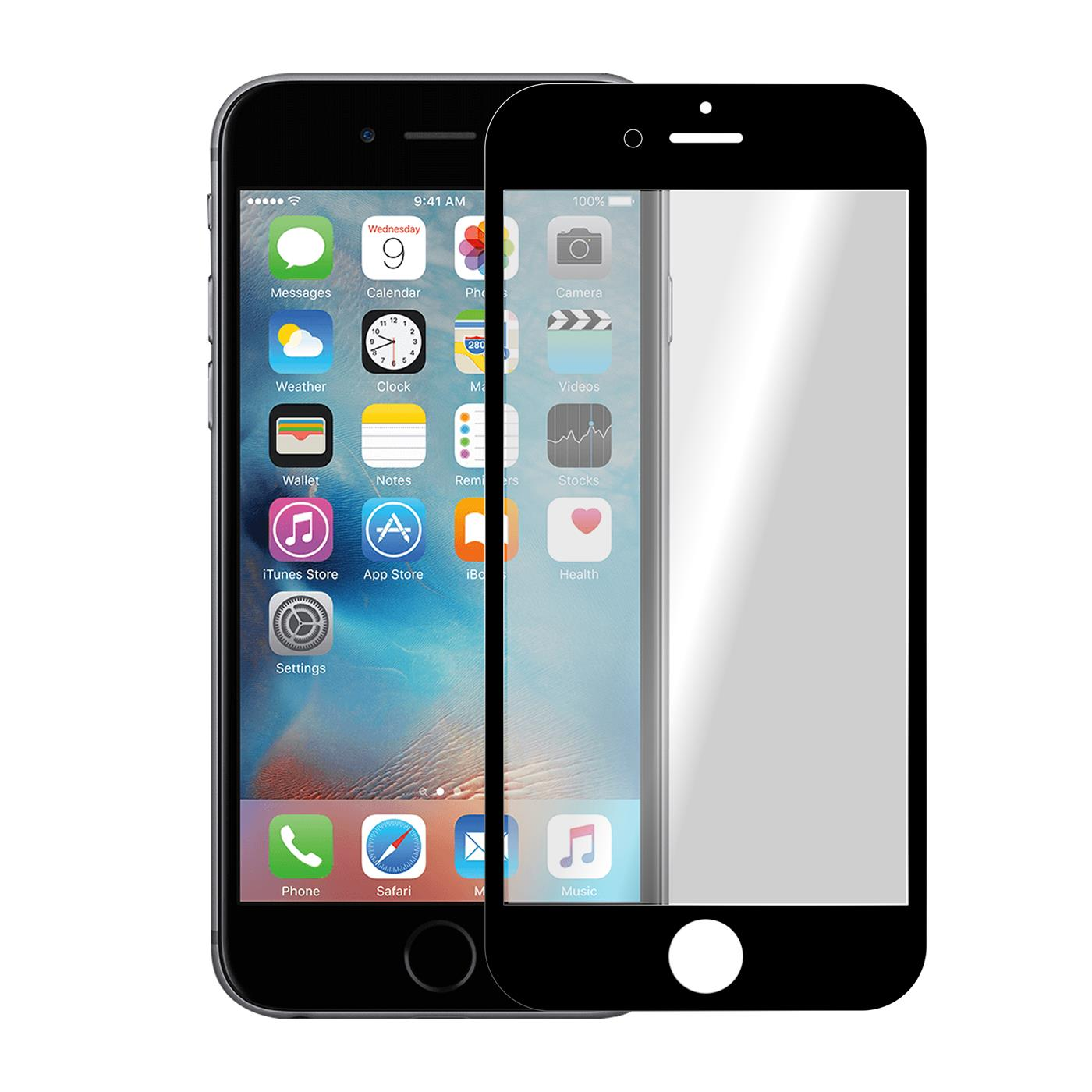 3d curved glasfolie f r apple iphone 6 6s plus panzerglas. Black Bedroom Furniture Sets. Home Design Ideas