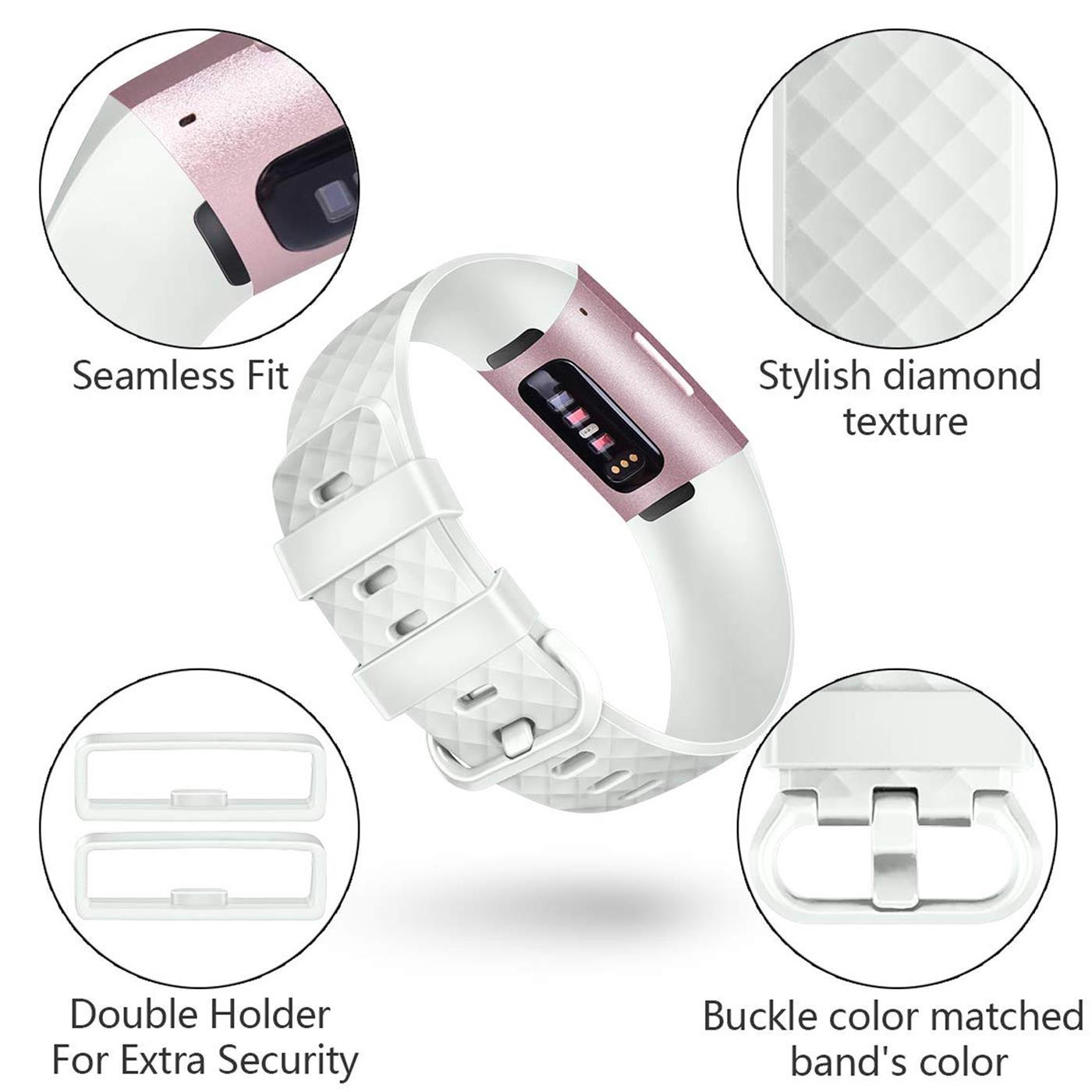 Fitbit-Groesse-S-oder-L-Ersatz-Silikon-Armband-Uhren-Sport-Band-Fitness-Tracker Indexbild 25