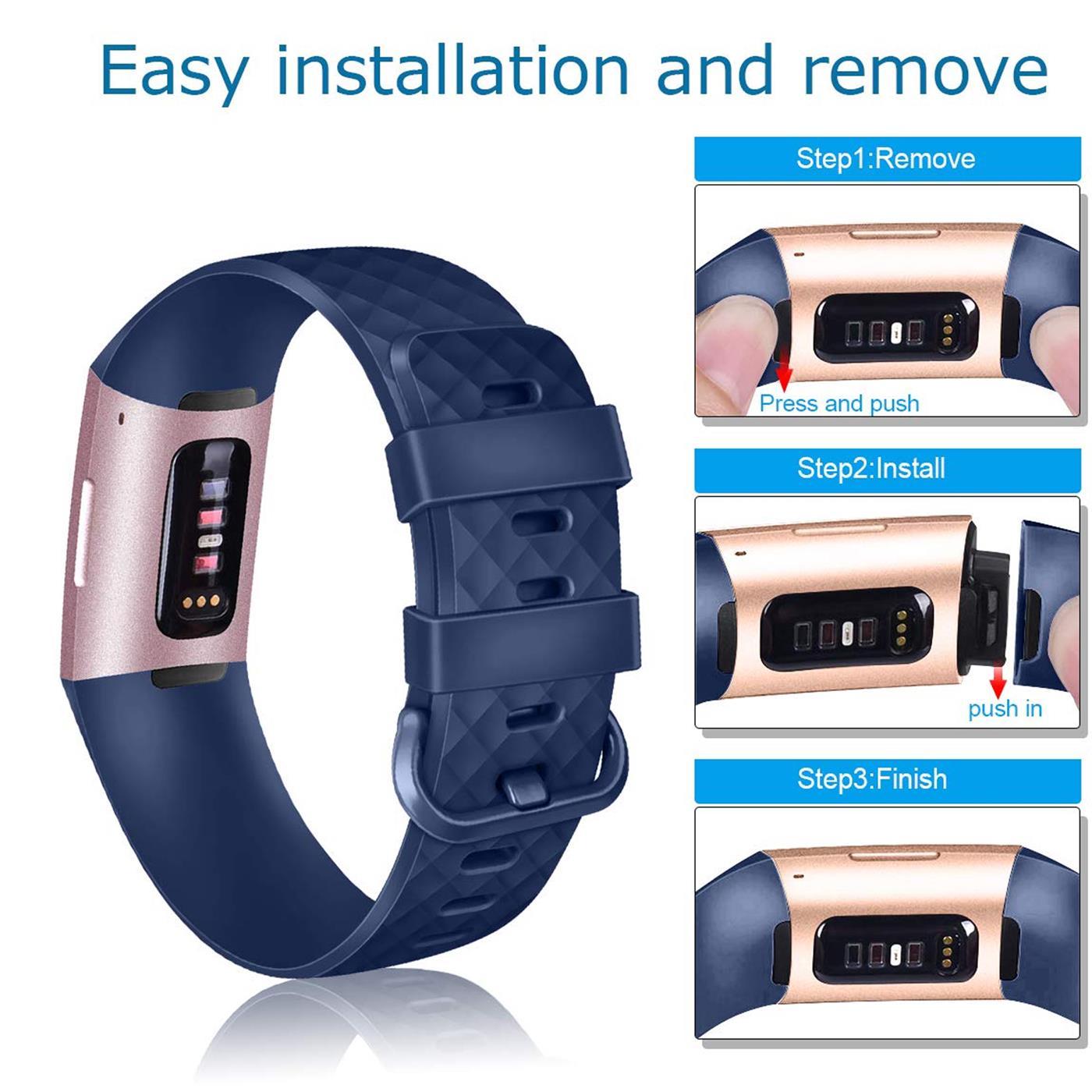 Fitbit-Groesse-S-oder-L-Ersatz-Silikon-Armband-Uhren-Sport-Band-Fitness-Tracker Indexbild 26
