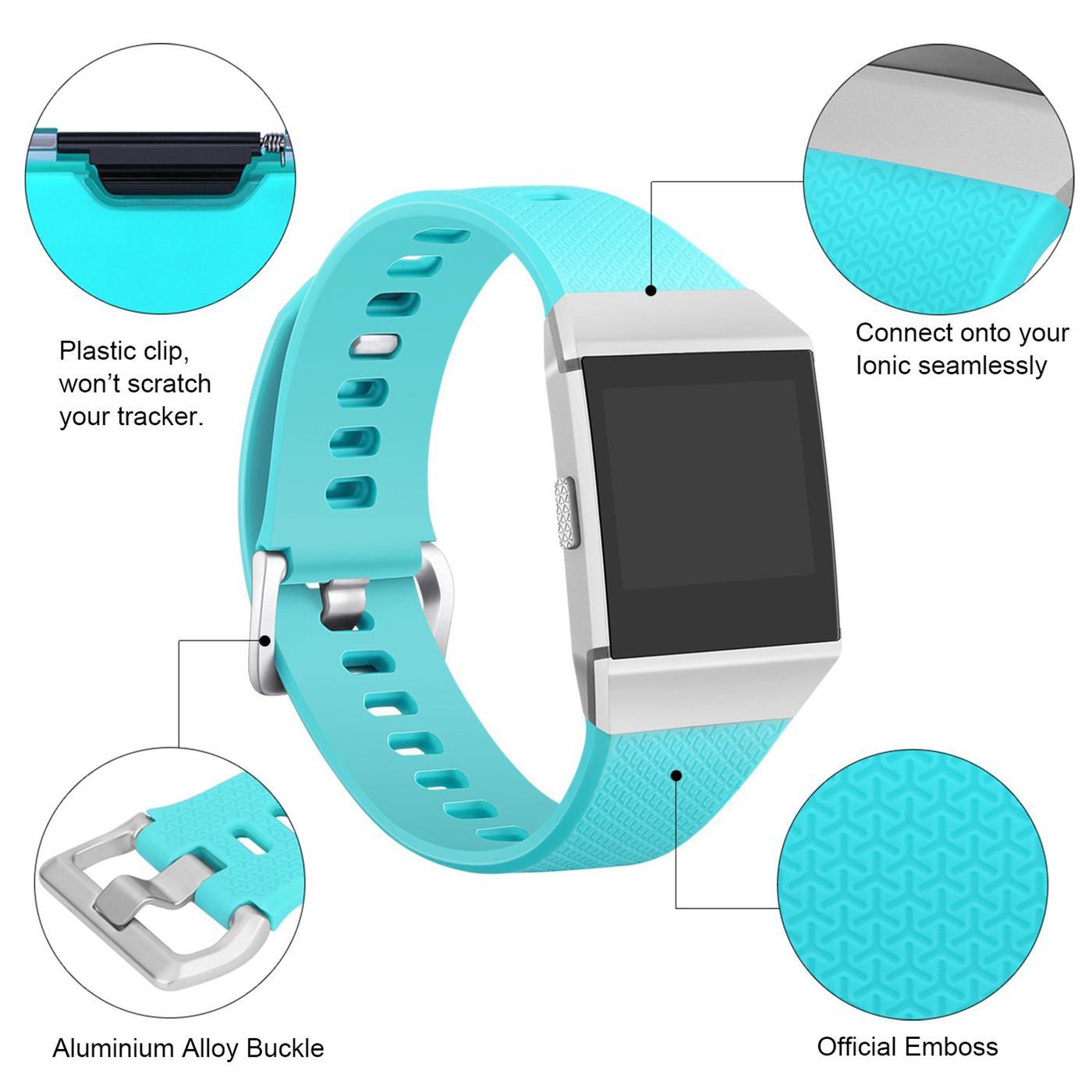 Fitbit-Ionic-Gr-S-L-Ersatz-Silikon-Armband-Uhren-Sport-Band-Fitness-Tracker Indexbild 15