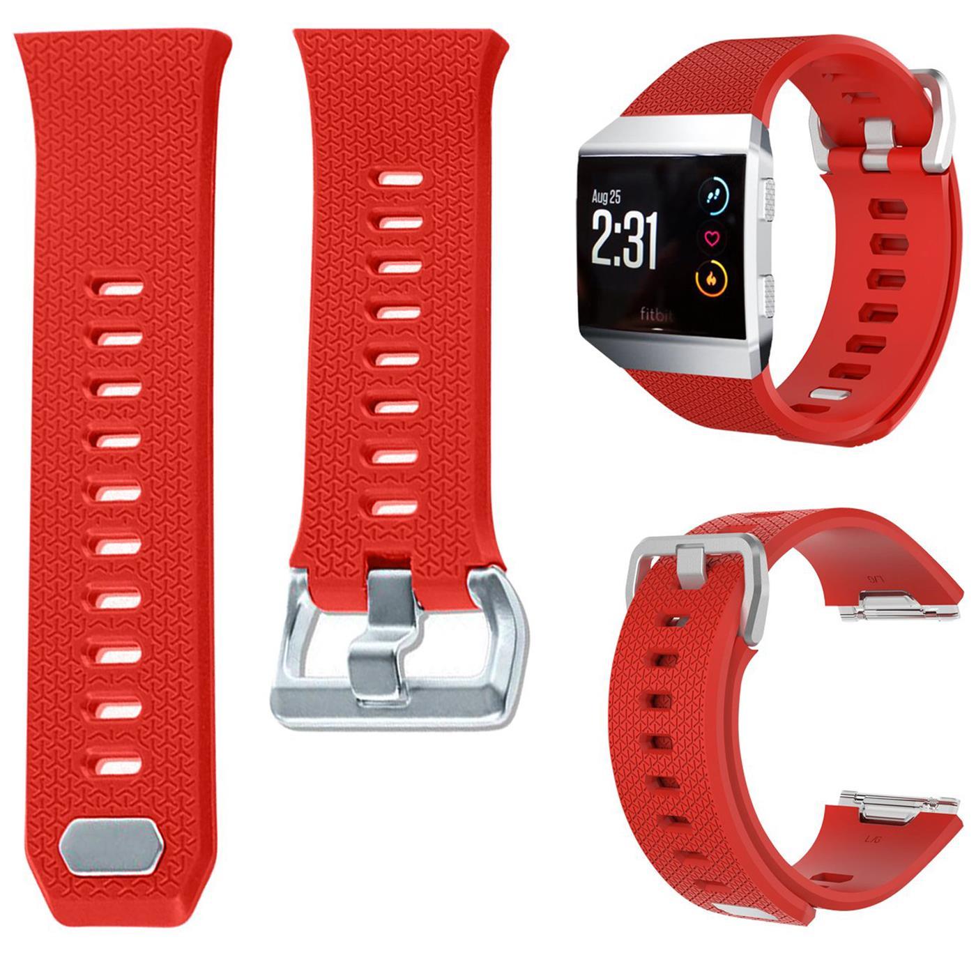 Fitbit-Groesse-S-oder-L-Ersatz-Silikon-Armband-Uhren-Sport-Band-Fitness-Tracker Indexbild 30