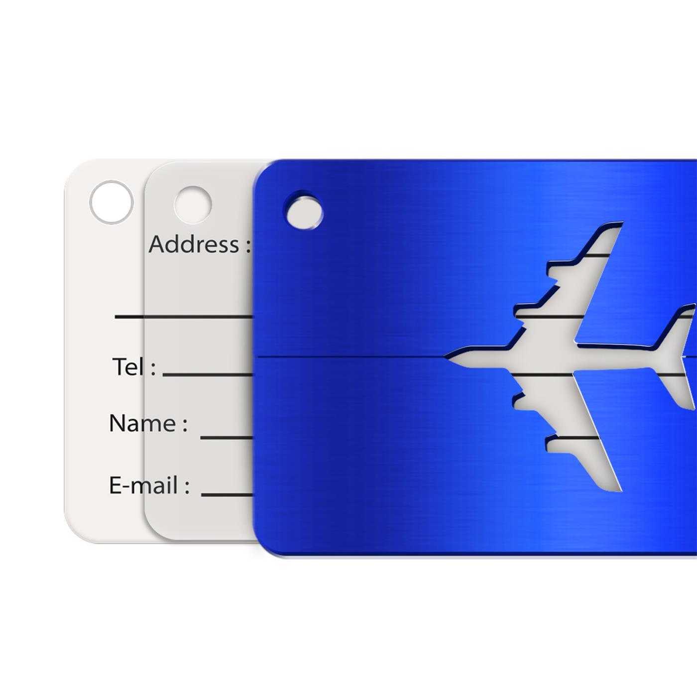 Reise-Kofferanhaenger-Namensschild-Gepaeck-Anhaenger-Schild-Urlaub-Flugzeug-Trolley Indexbild 8