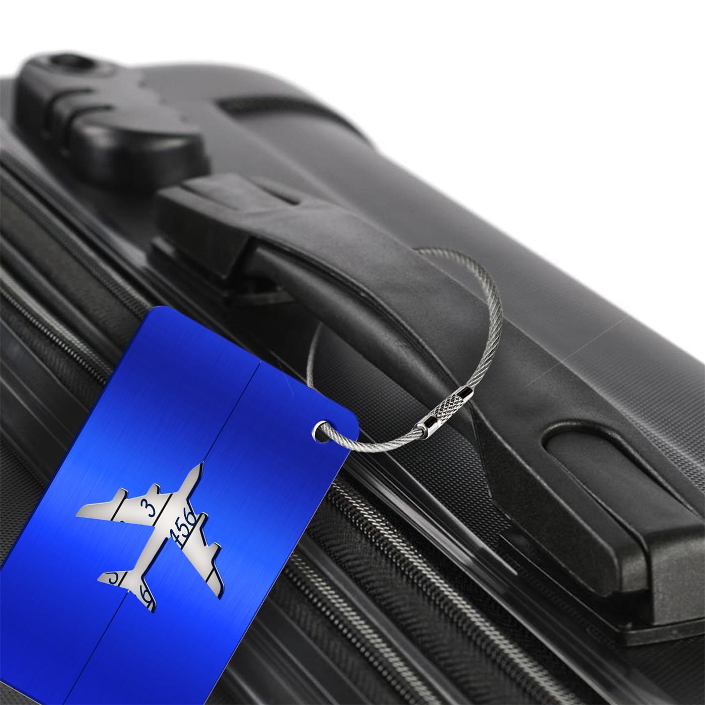 Reise-Kofferanhaenger-Namensschild-Gepaeck-Anhaenger-Schild-Urlaub-Flugzeug-Trolley Indexbild 9