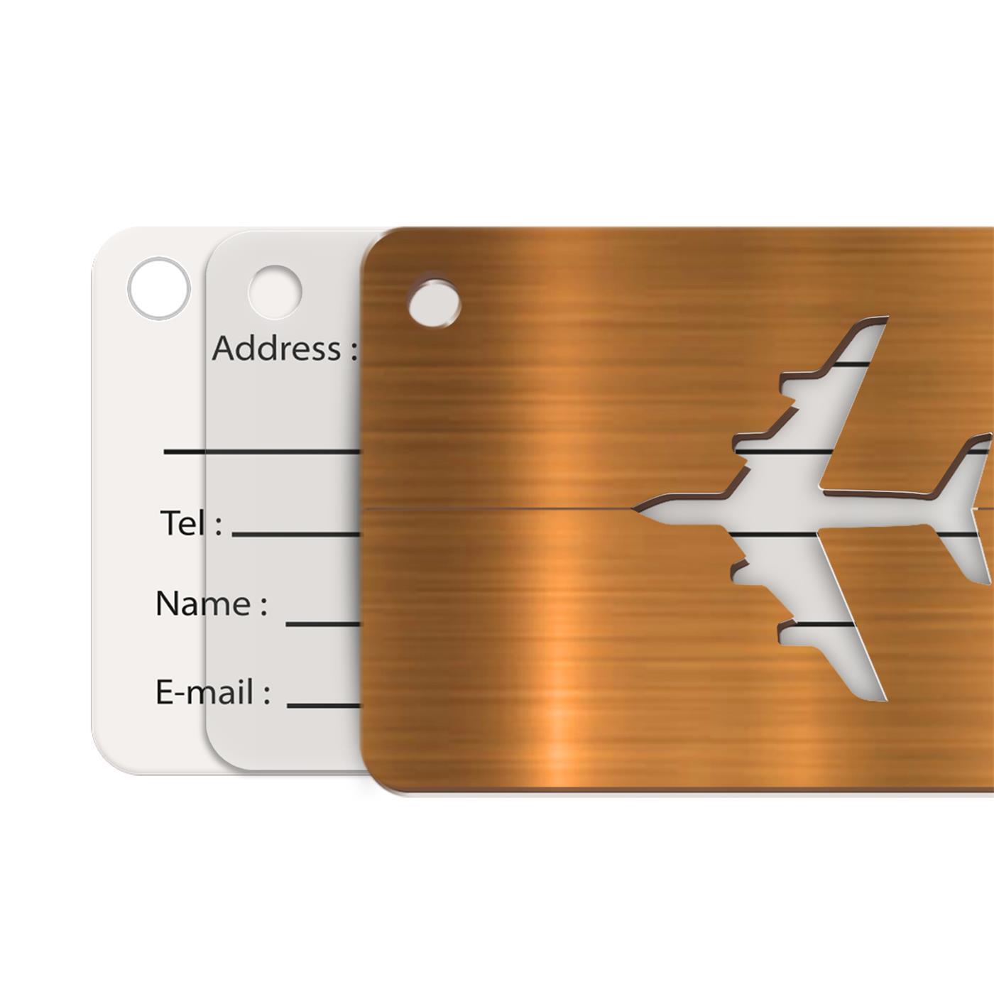 Reise-Kofferanhaenger-Namensschild-Gepaeck-Anhaenger-Schild-Urlaub-Flugzeug-Trolley Indexbild 11