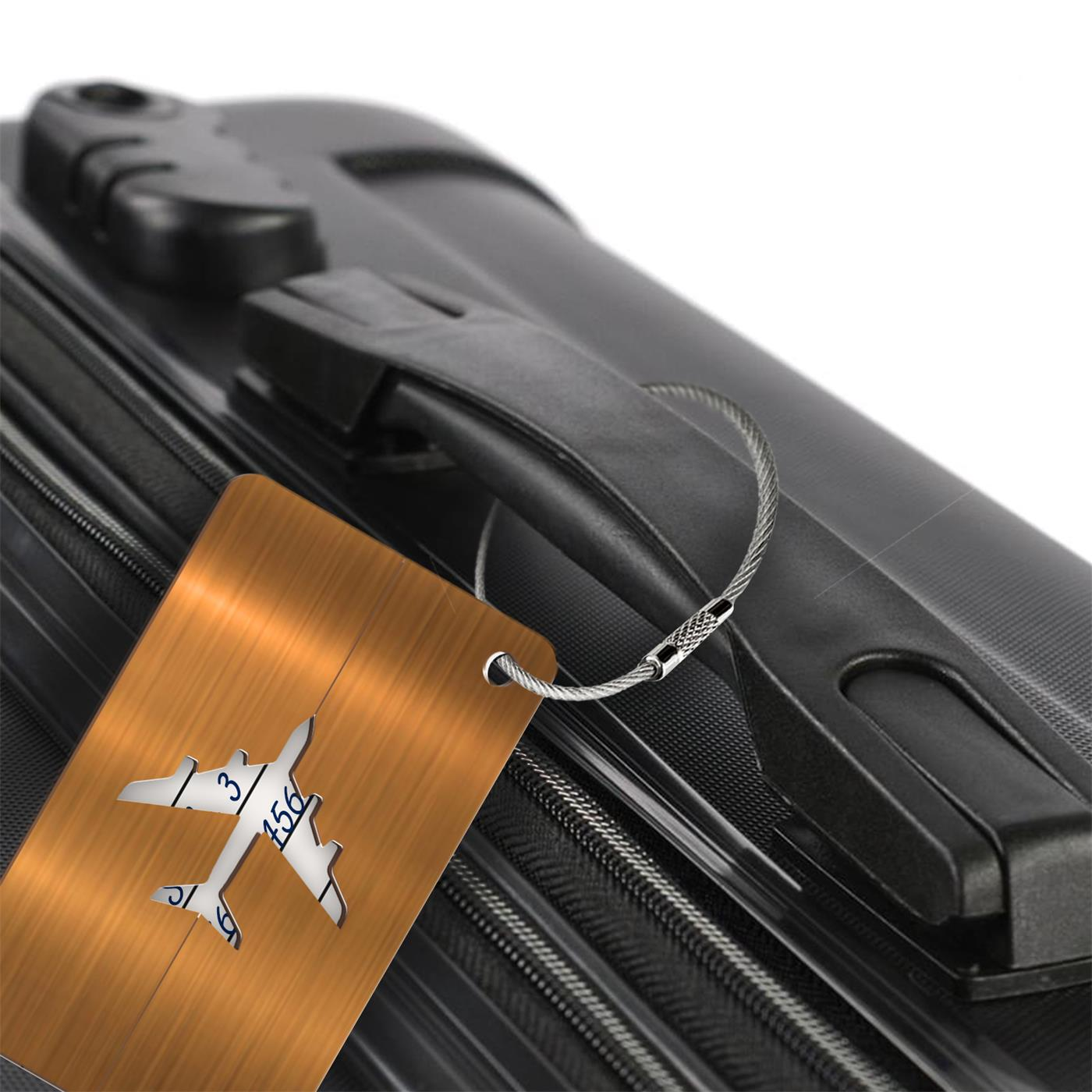 Reise-Kofferanhaenger-Namensschild-Gepaeck-Anhaenger-Schild-Urlaub-Flugzeug-Trolley Indexbild 12