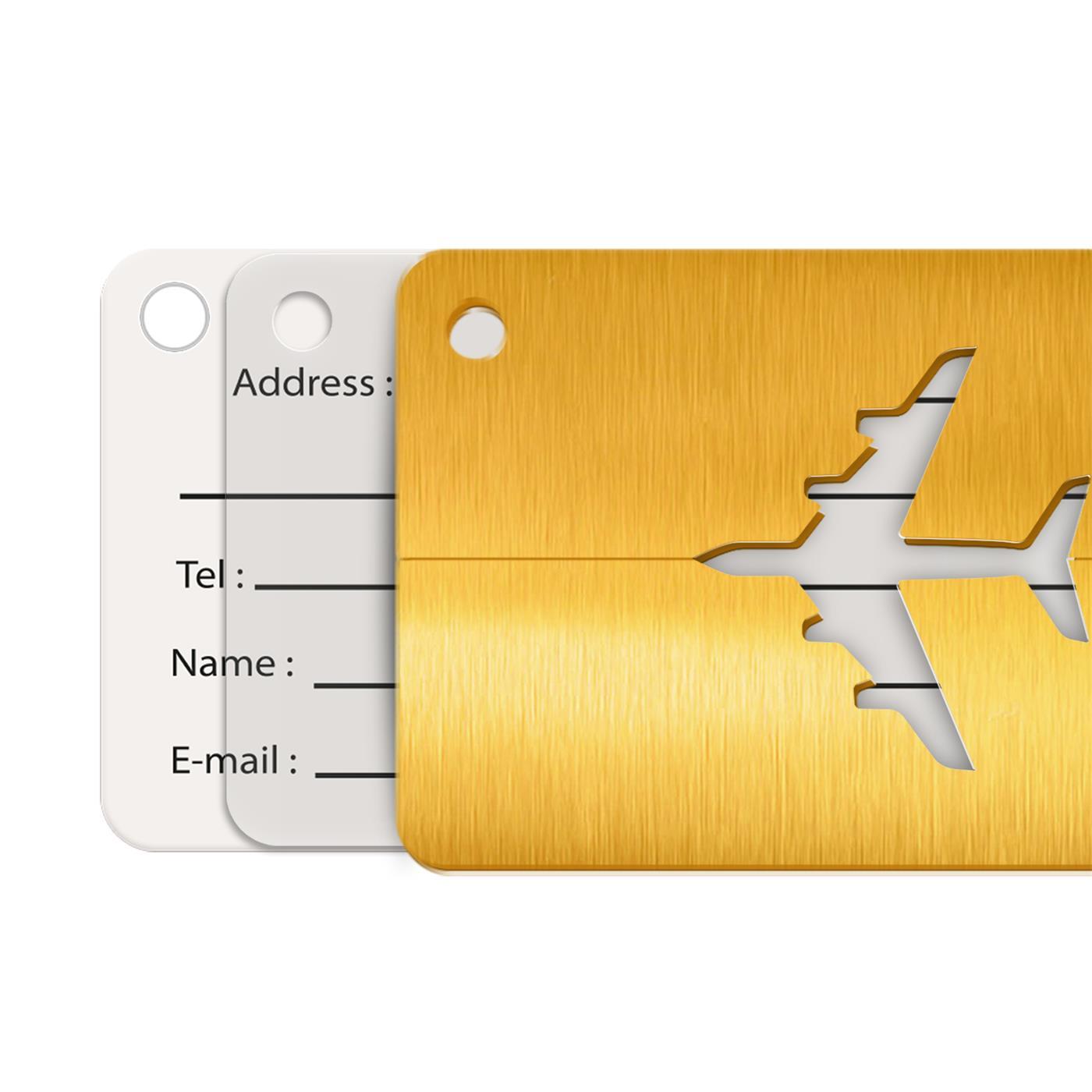 Reise-Kofferanhaenger-Namensschild-Gepaeck-Anhaenger-Schild-Urlaub-Flugzeug-Trolley Indexbild 14