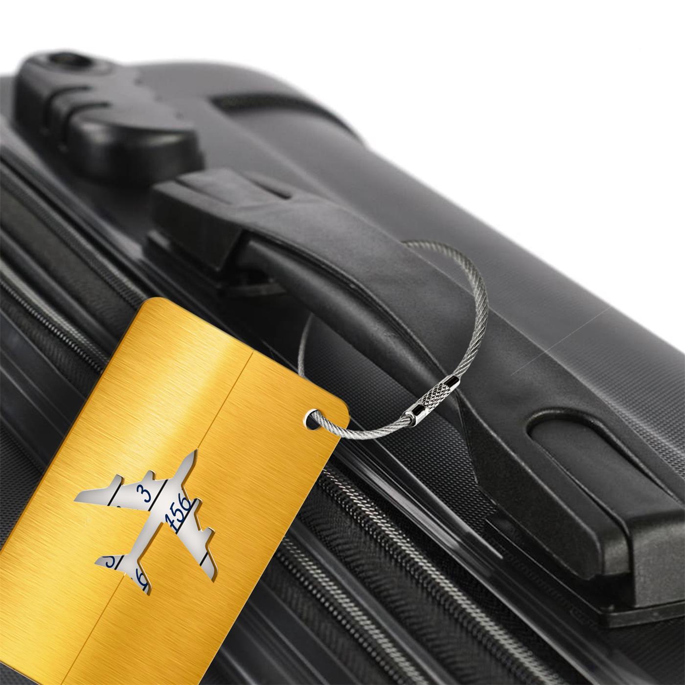 Reise-Kofferanhaenger-Namensschild-Gepaeck-Anhaenger-Schild-Urlaub-Flugzeug-Trolley Indexbild 15