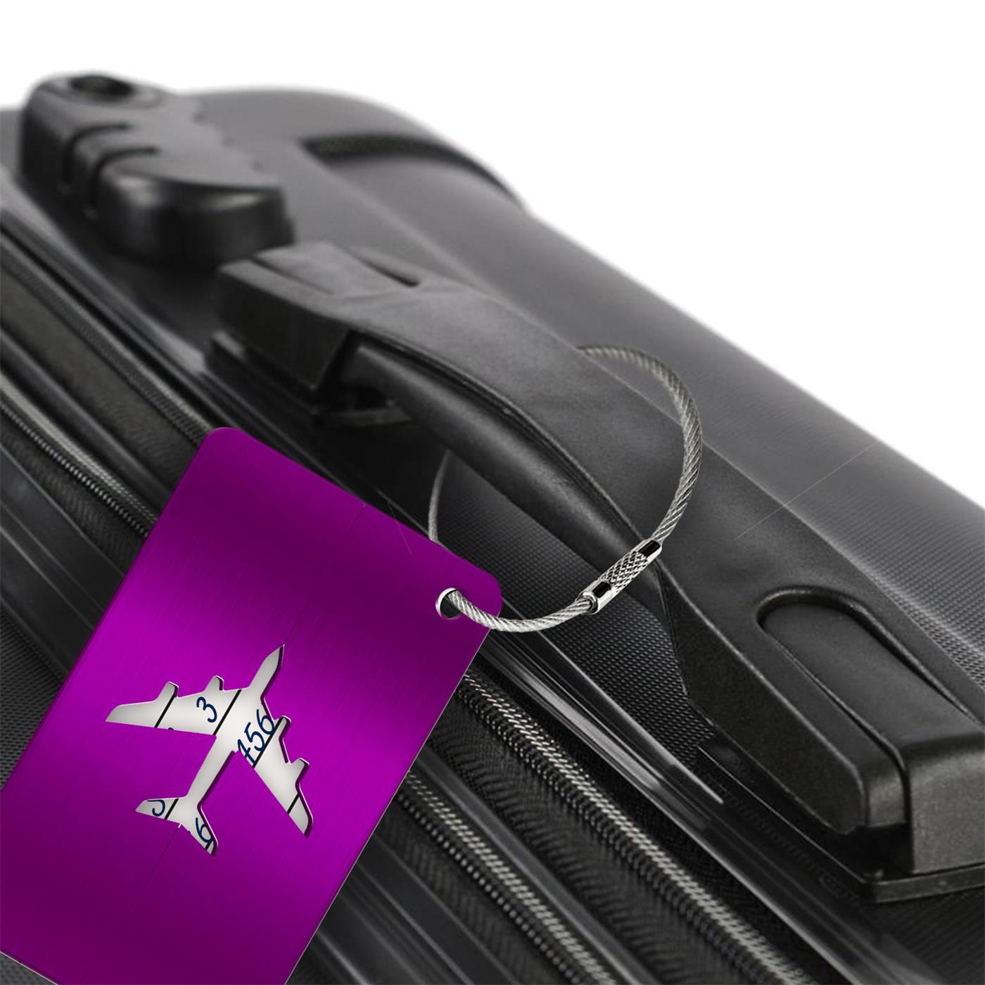 Reise-Kofferanhaenger-Namensschild-Gepaeck-Anhaenger-Schild-Urlaub-Flugzeug-Trolley Indexbild 27