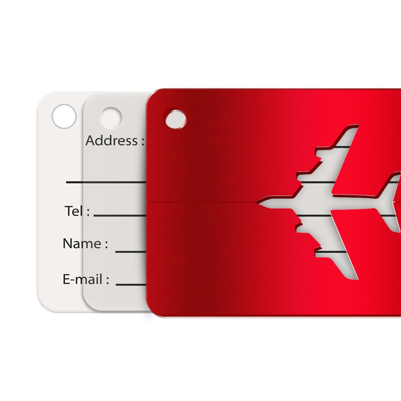 Reise-Kofferanhaenger-Namensschild-Gepaeck-Anhaenger-Schild-Urlaub-Flugzeug-Trolley Indexbild 17