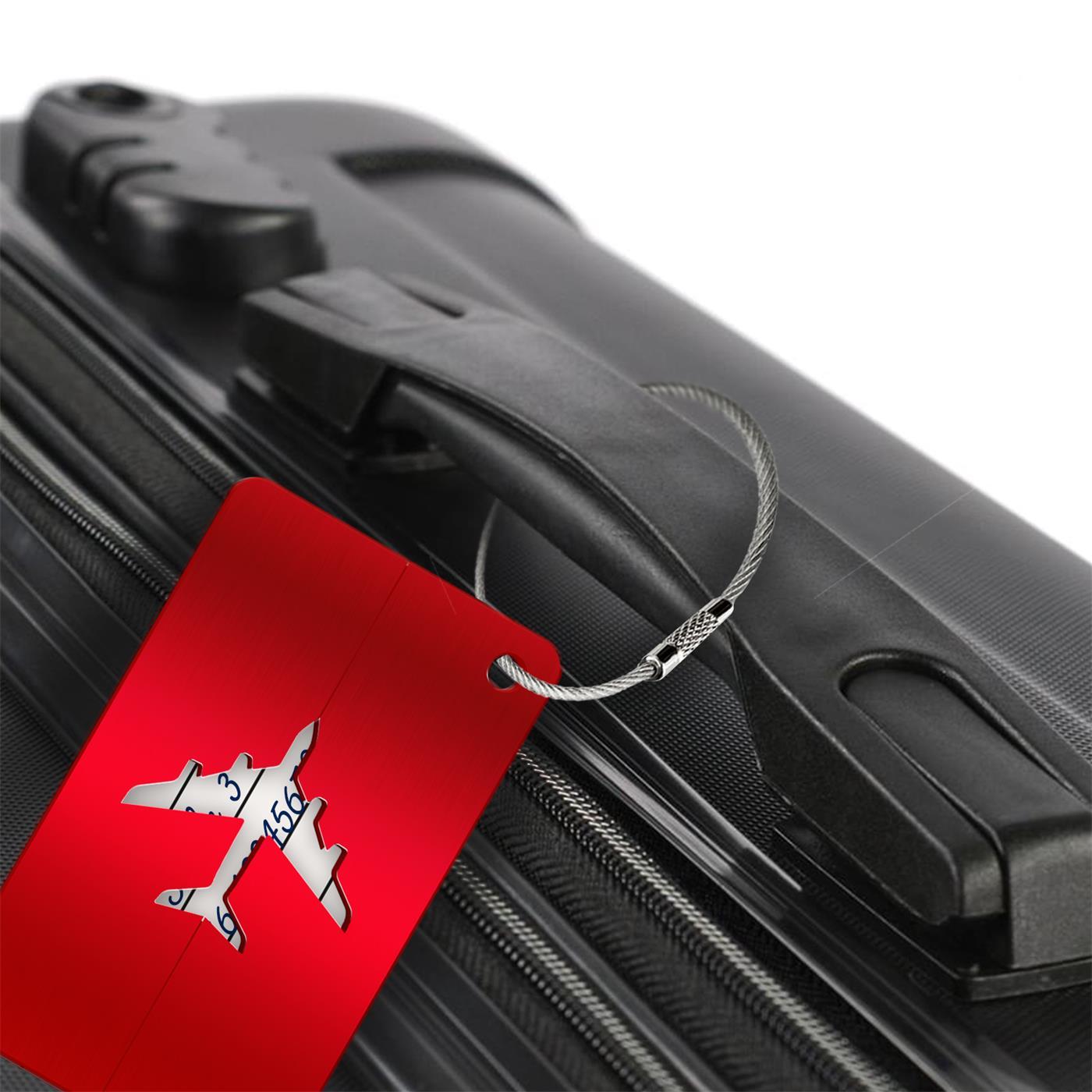 Reise-Kofferanhaenger-Namensschild-Gepaeck-Anhaenger-Schild-Urlaub-Flugzeug-Trolley Indexbild 18